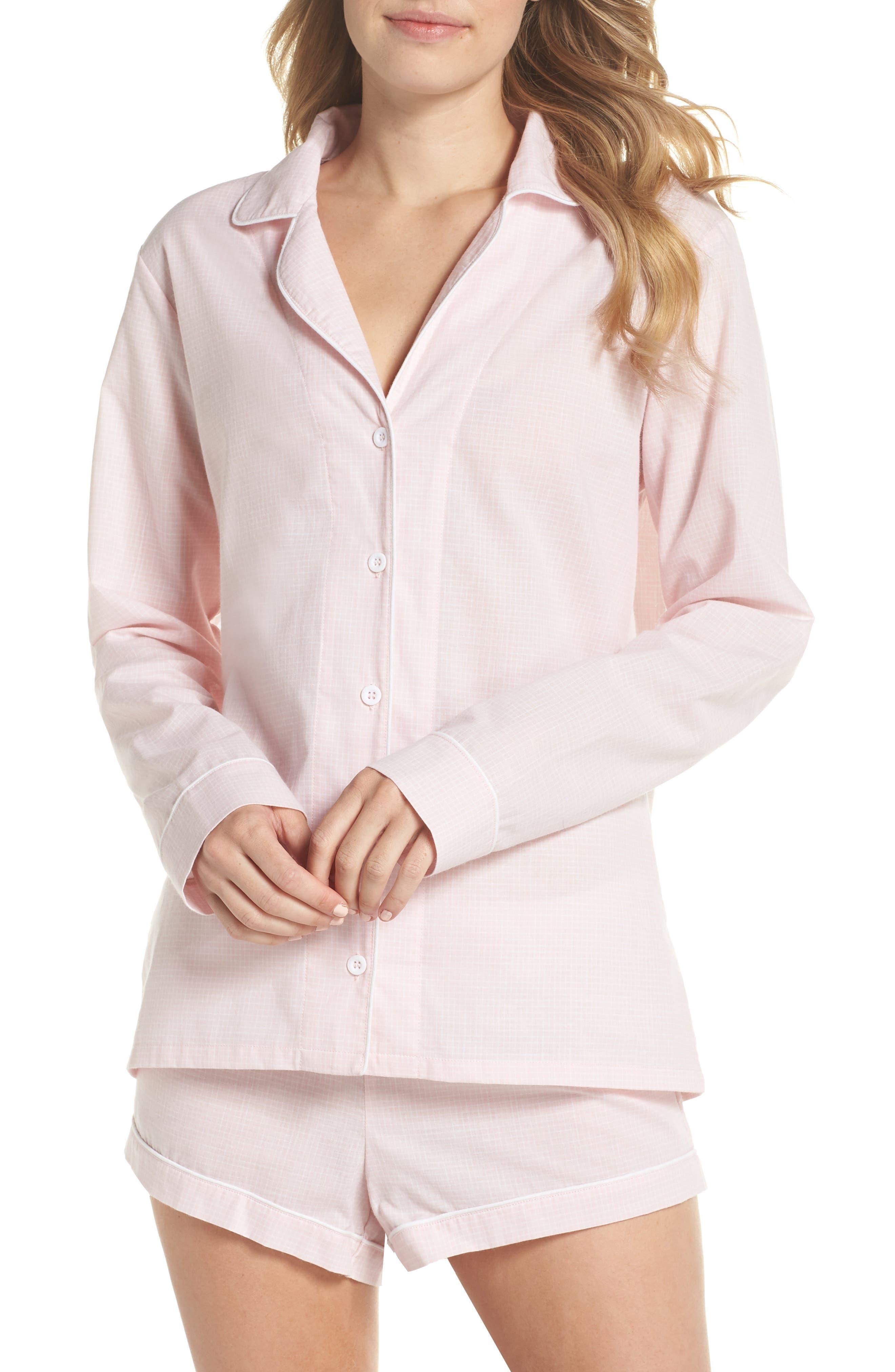 Cassandra Check Pajamas,                             Main thumbnail 1, color,                             656
