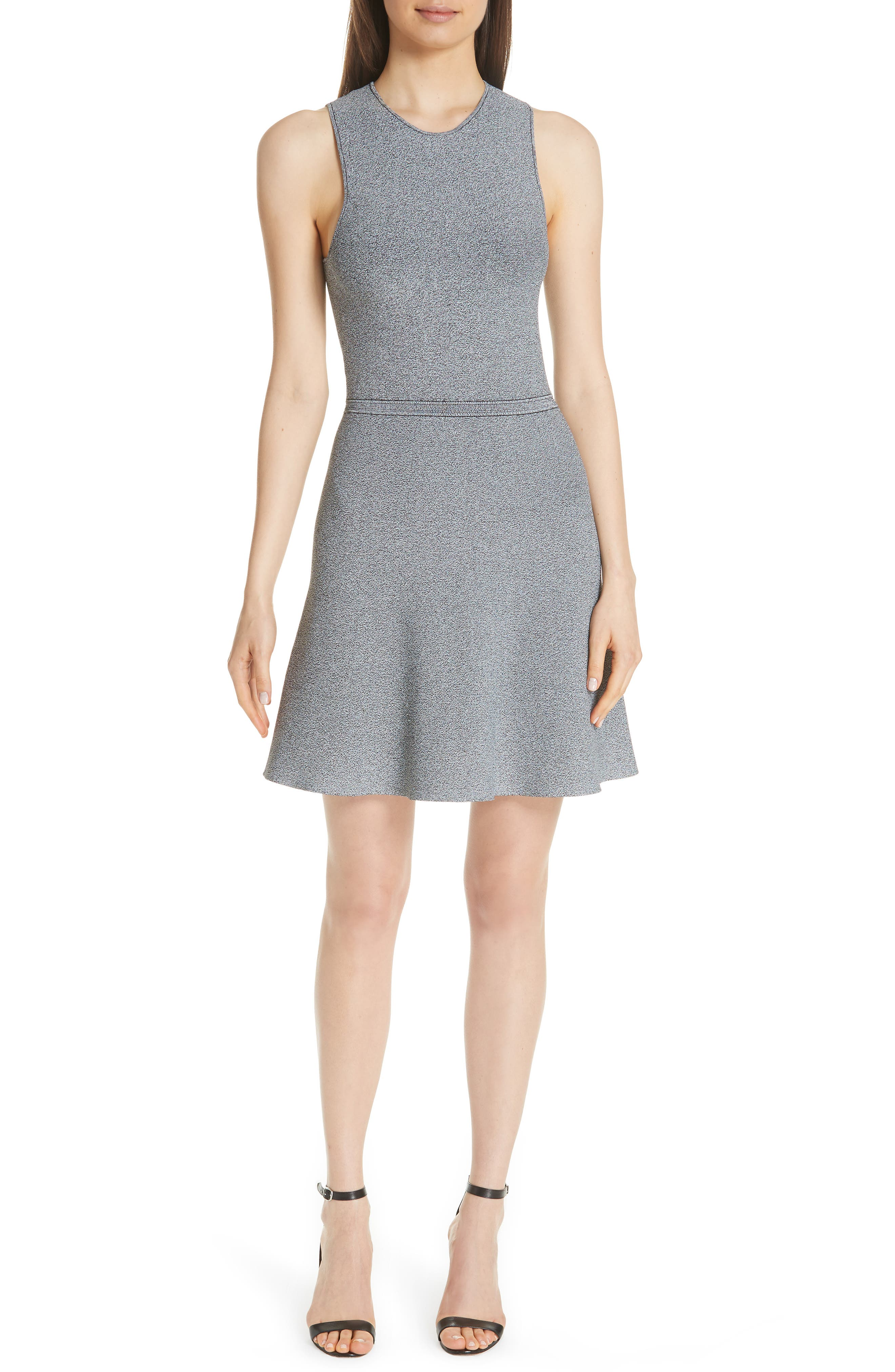Theory Marled Fit & Flare Sweater Dress
