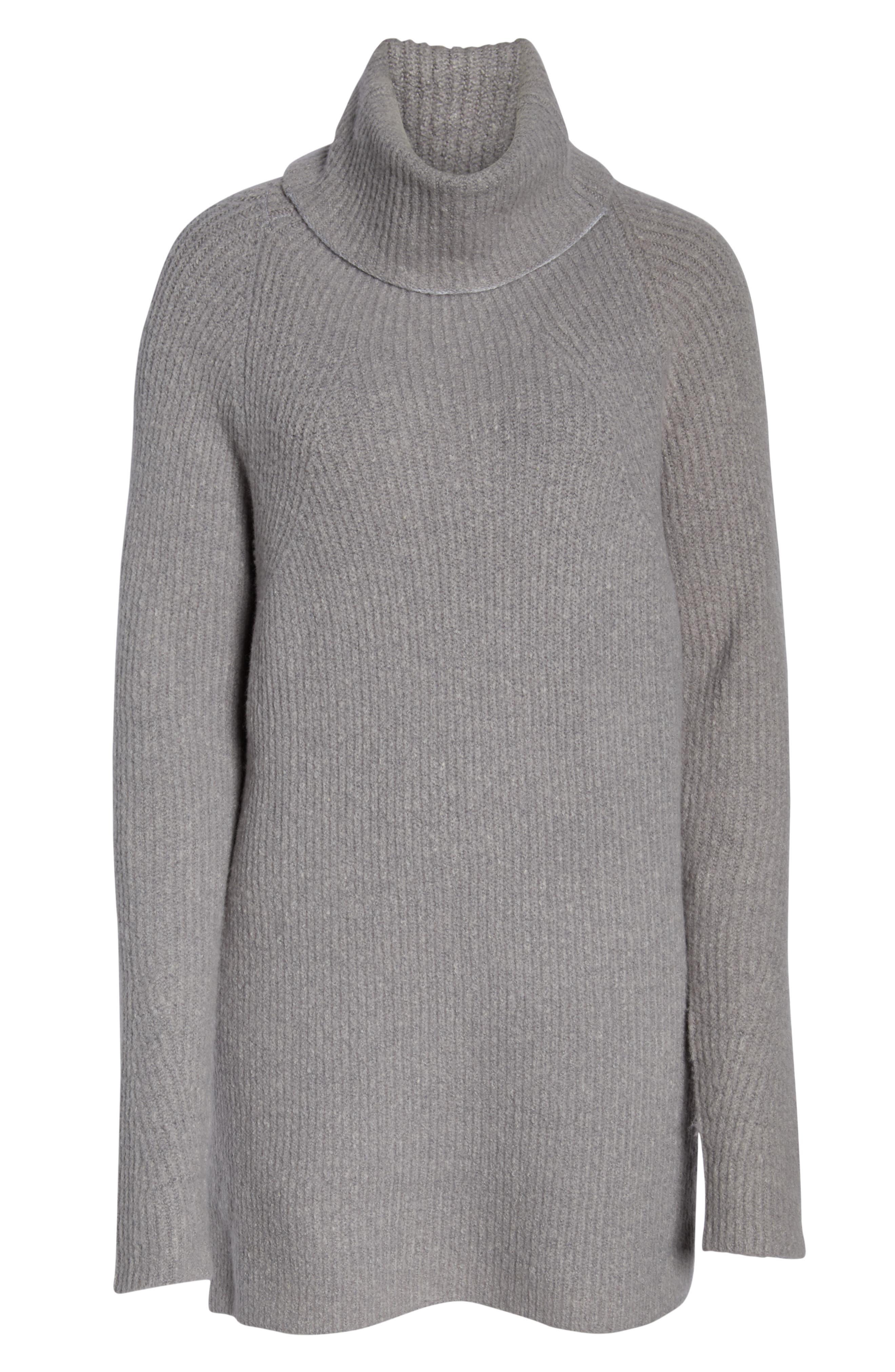 Shakti Oversize Sweater,                             Alternate thumbnail 7, color,                             SILVER GREY MARL