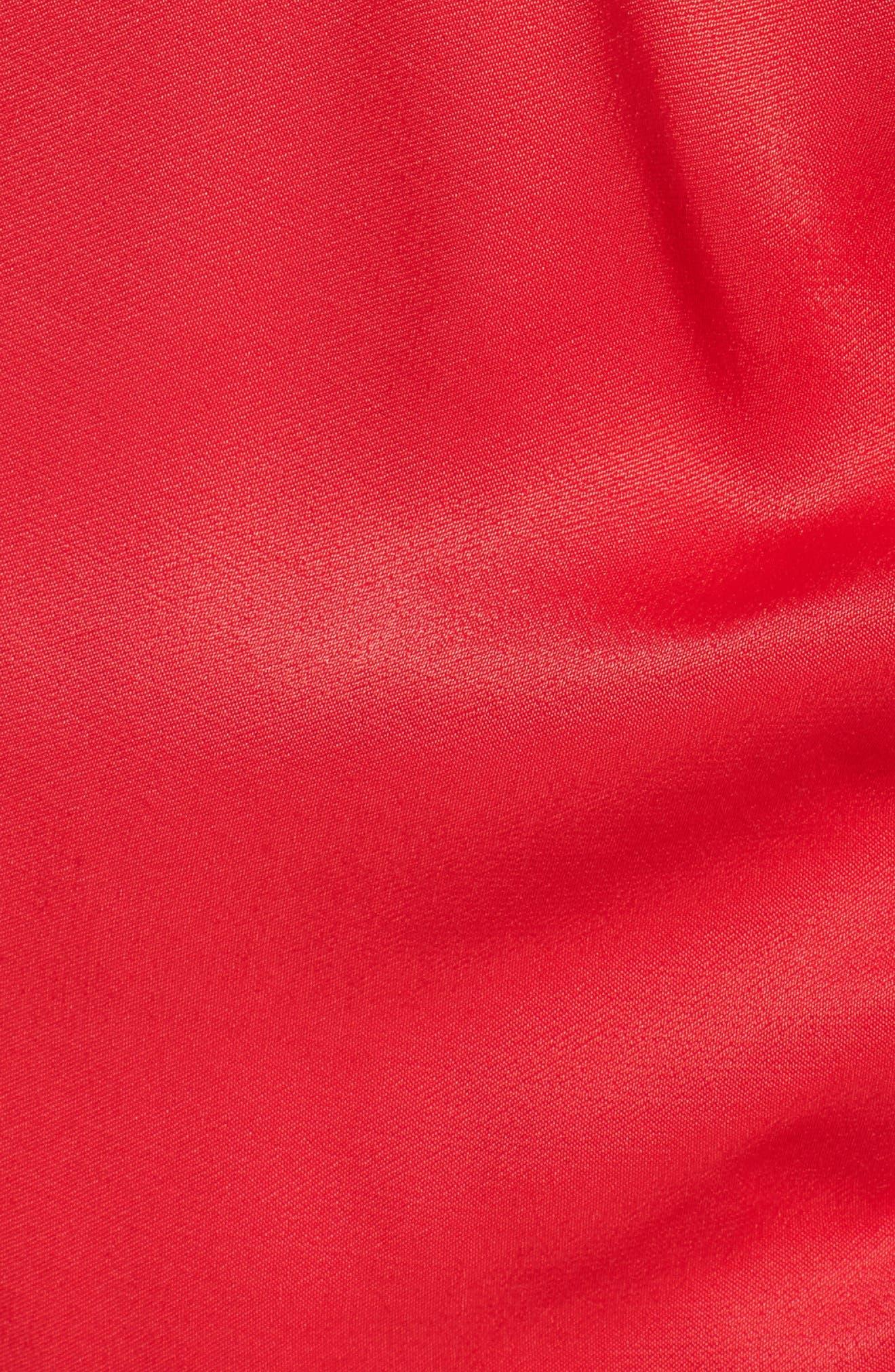 Satin Wrap Dress,                             Alternate thumbnail 5, color,