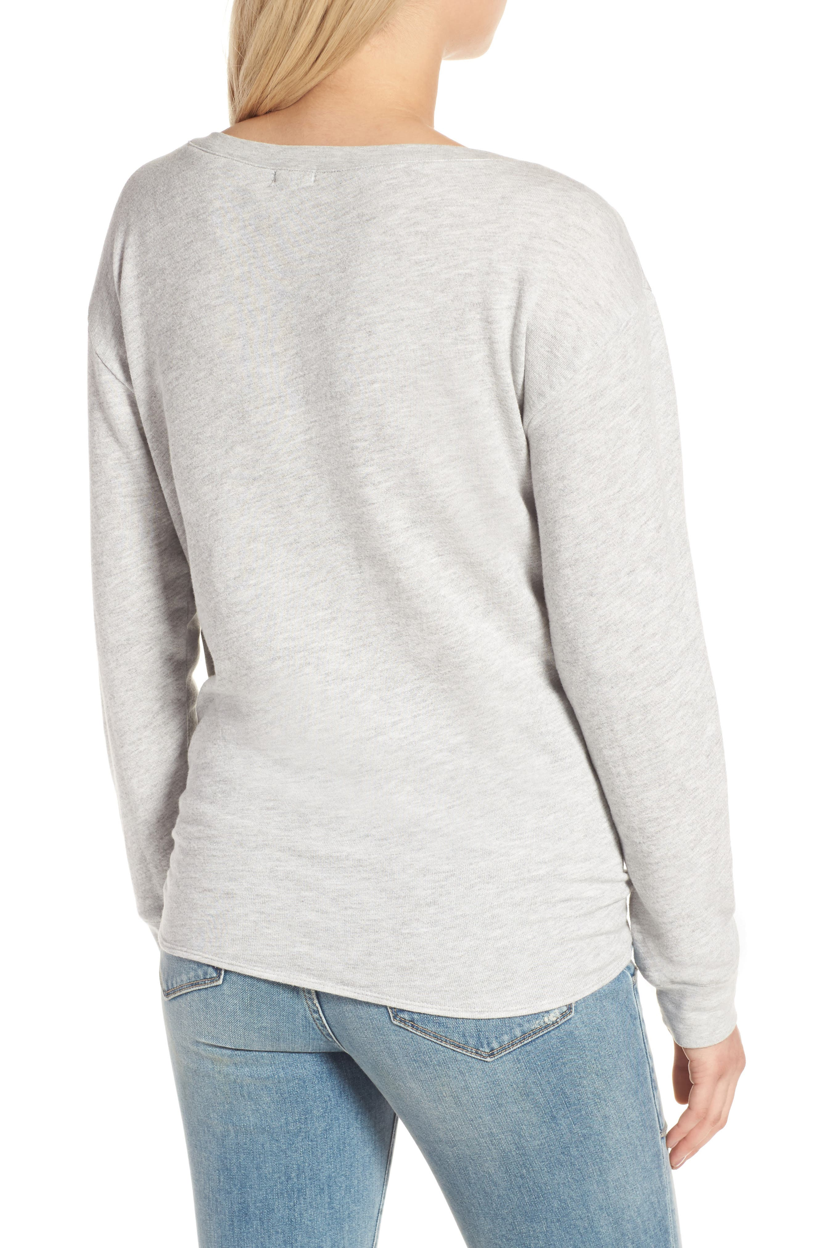 HINGE,                             Tie Front Pullover,                             Alternate thumbnail 2, color,                             020