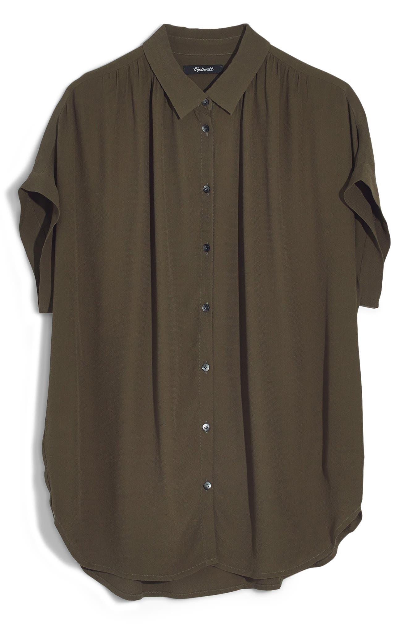 Central Drapey Shirt,                             Alternate thumbnail 4, color,                             KALE