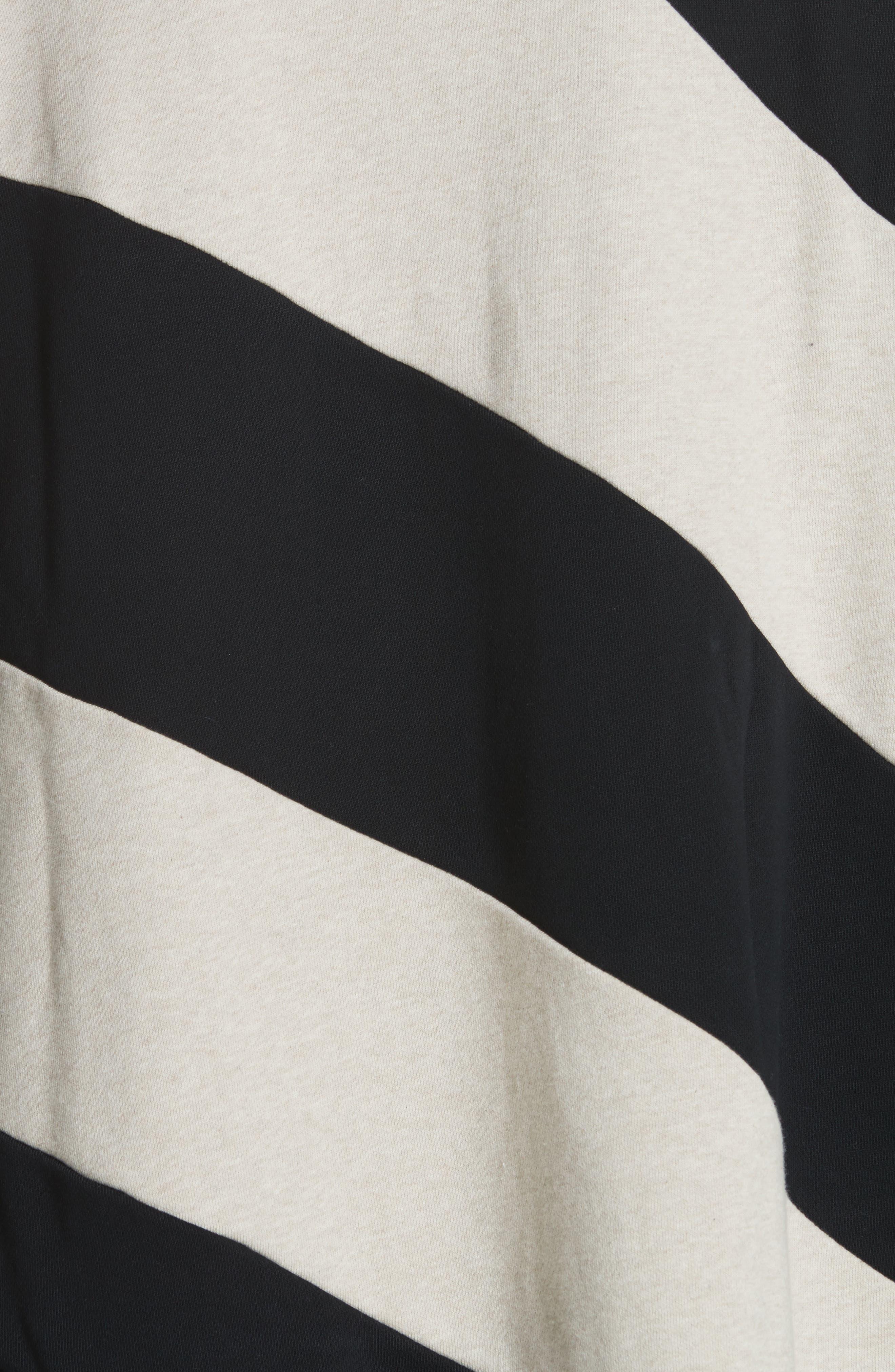 Marques'Almeida Asymmetrical Stripe Sweatshirt,                             Alternate thumbnail 5, color,                             250