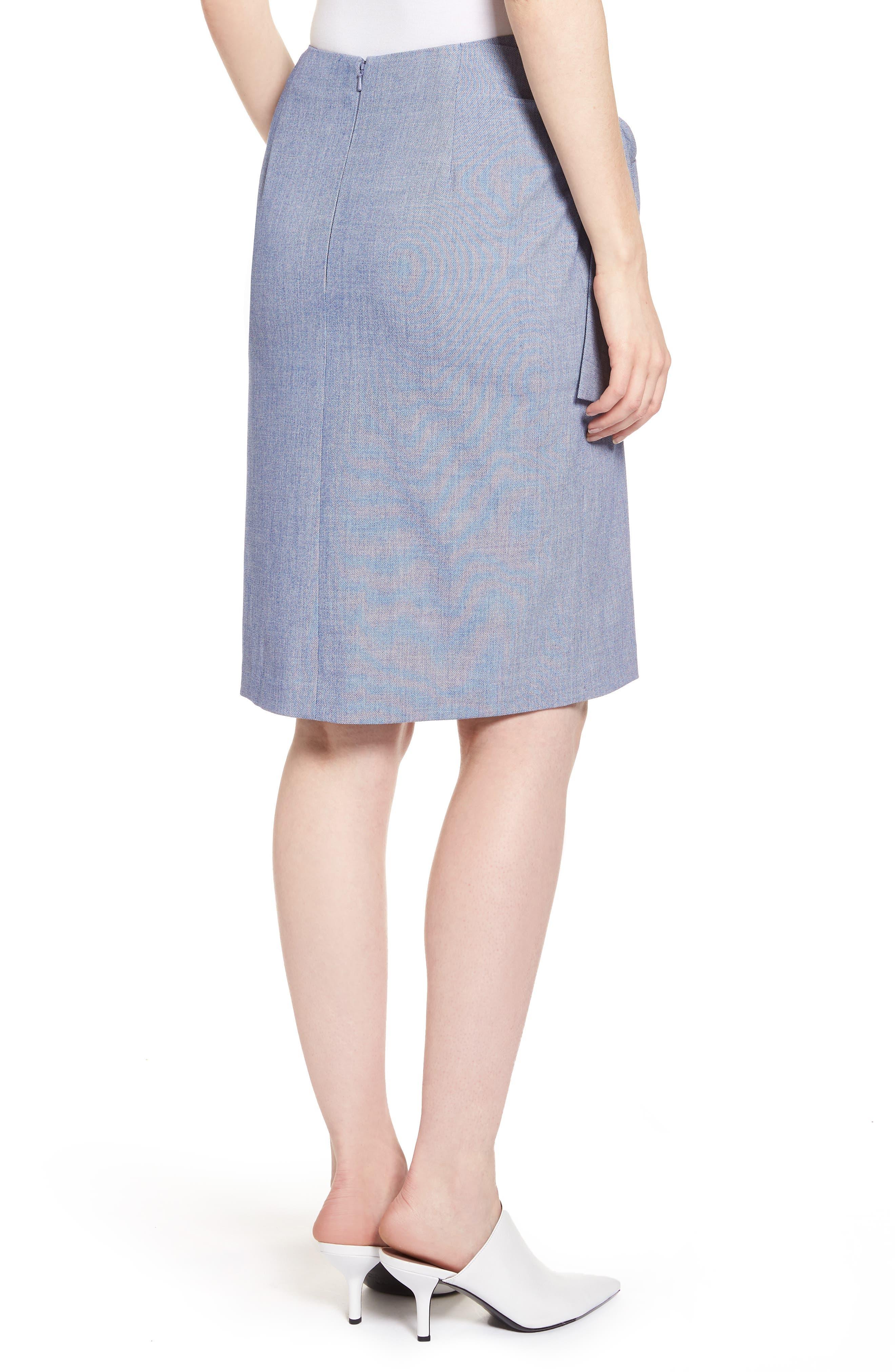 Side Tie Pencil Skirt,                             Alternate thumbnail 2, color,                             400
