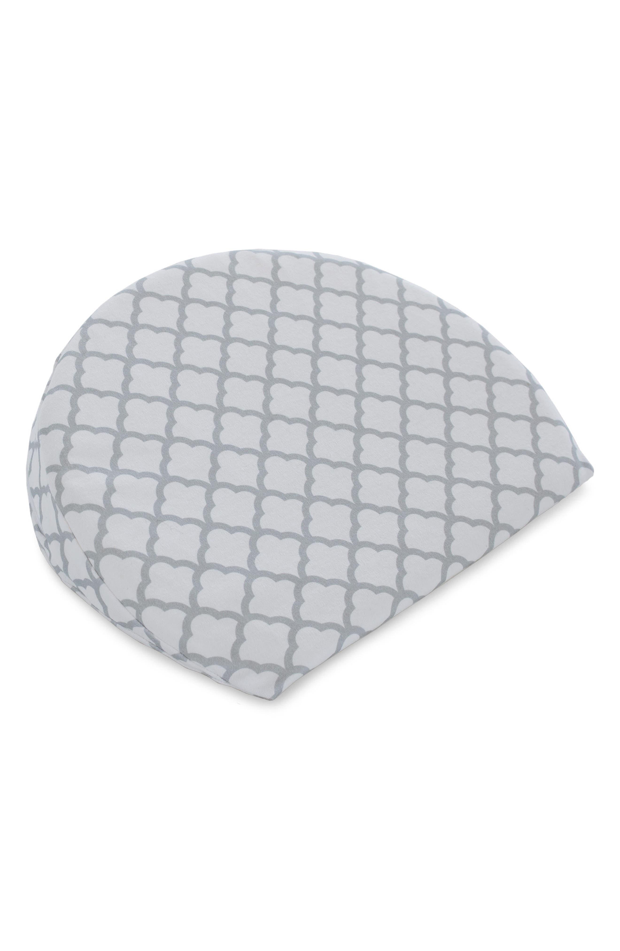 Pregnancy Wedge Cushion & Slipcover,                             Alternate thumbnail 3, color,                             WHITE TRELLIS