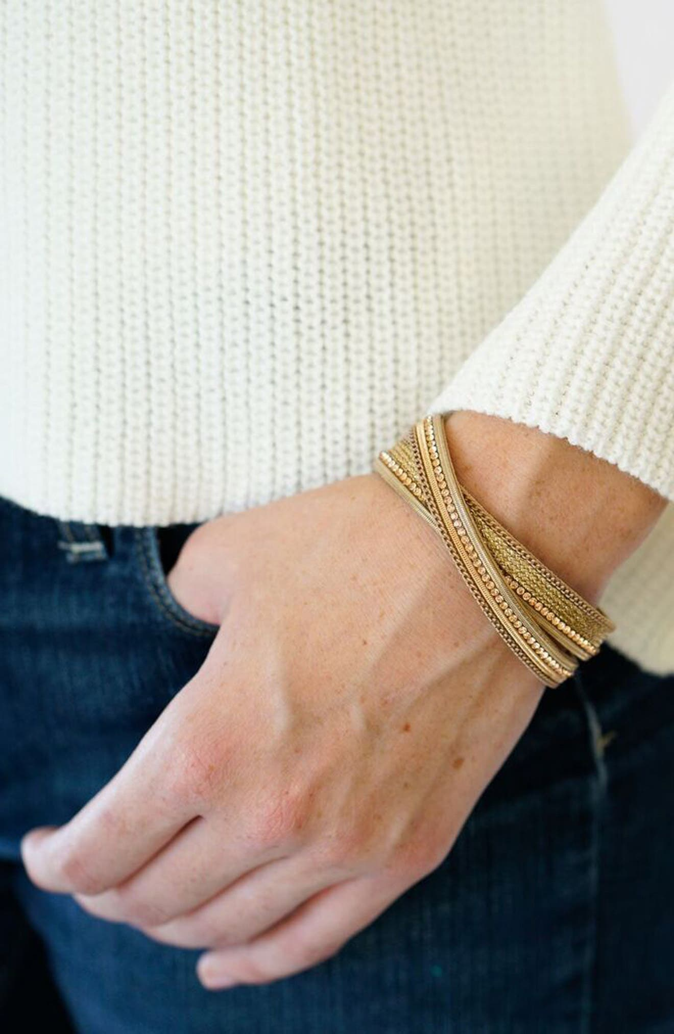 Crisscross Bracelet,                             Alternate thumbnail 2, color,