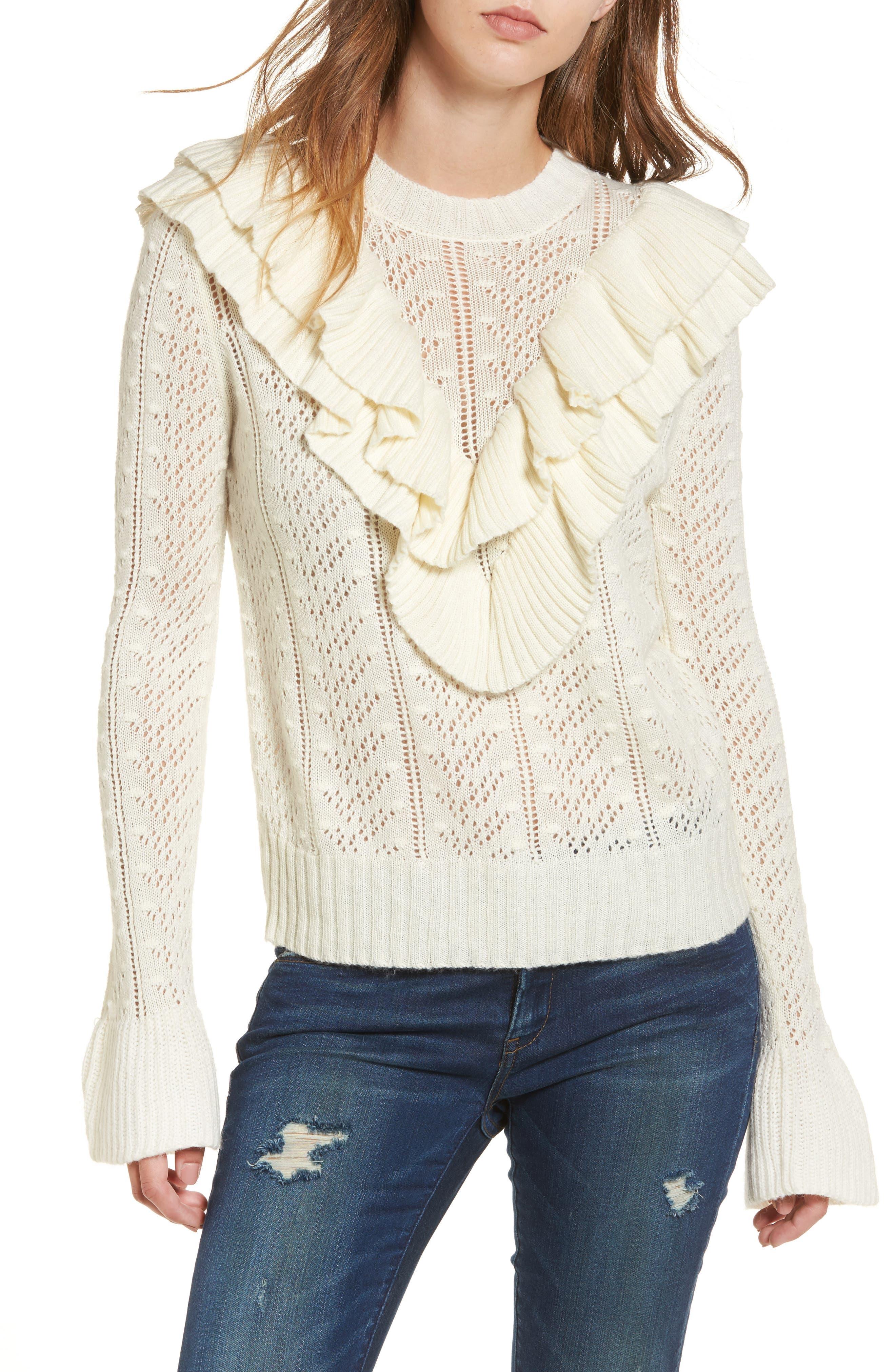 Manny Ruffle Sweater,                         Main,                         color, 900