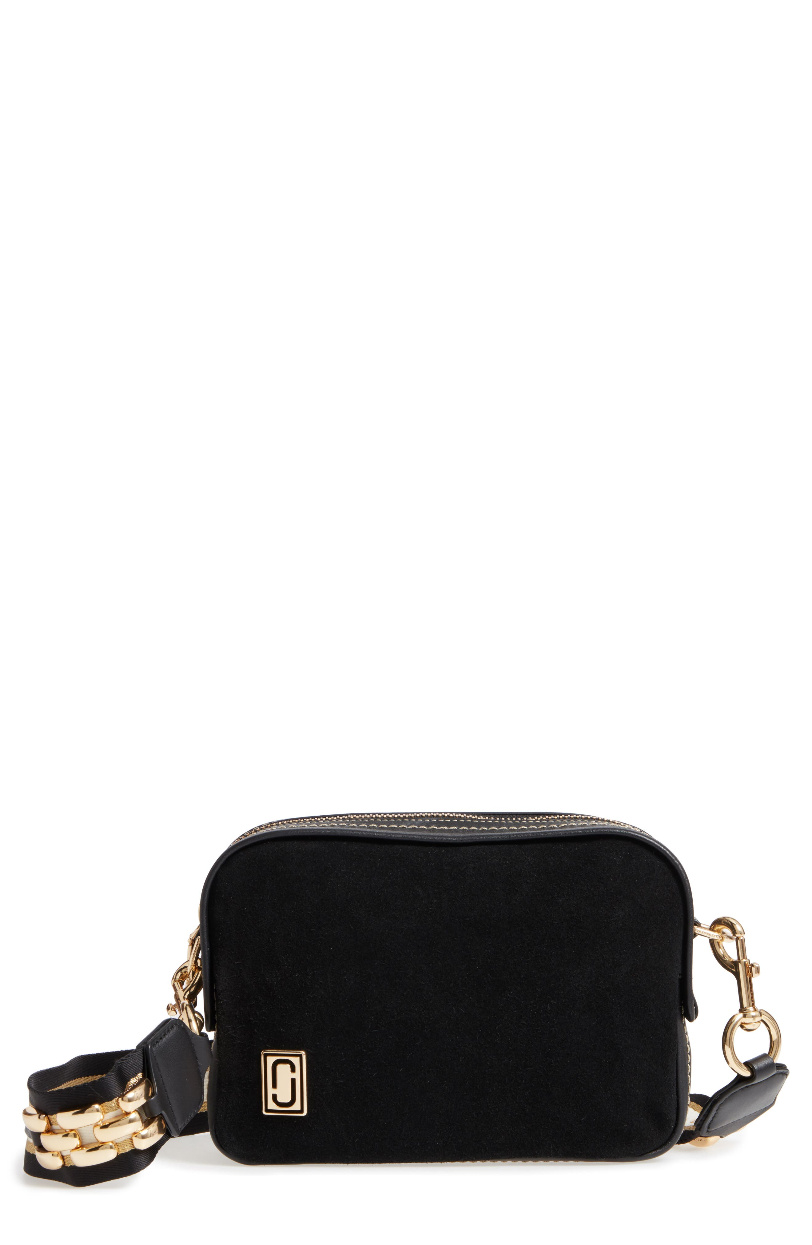 The Squeeze Suede & Leather Shoulder Bag,                         Main,                         color,