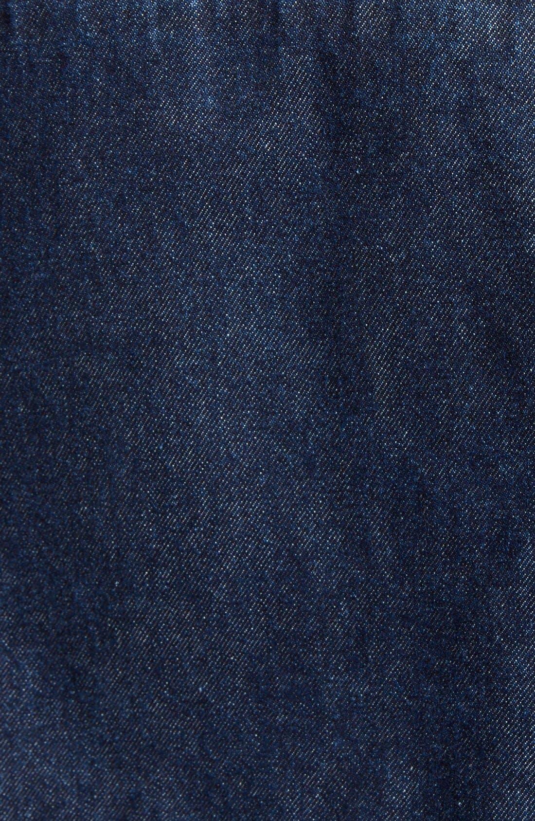 Denim Cape Jacket,                             Alternate thumbnail 3, color,                             401
