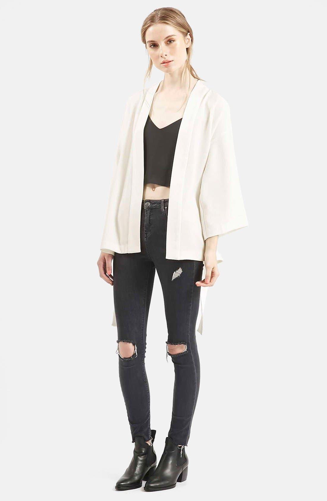 Belted Kimono Jacket,                             Alternate thumbnail 5, color,                             900