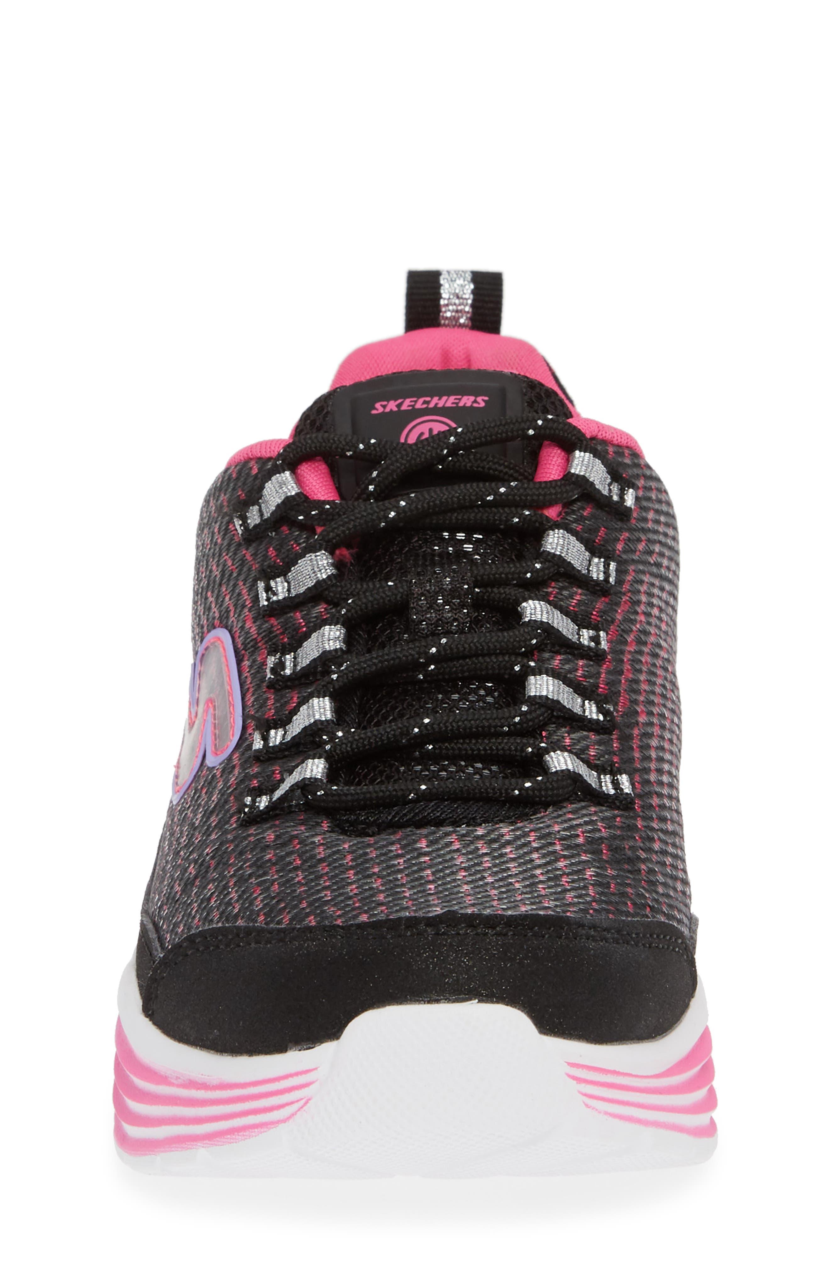 Luminator Light Up Sneaker,                             Alternate thumbnail 4, color,                             BLACK/ PINK