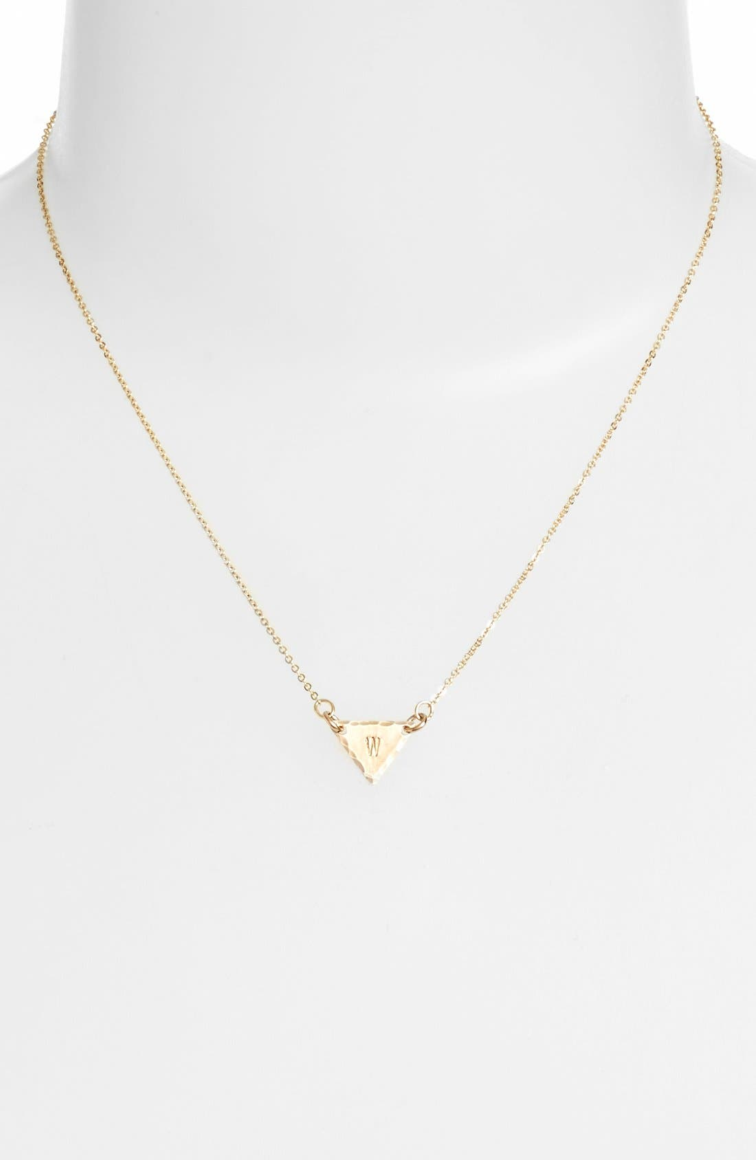 14k-Gold Fill Initial Triangle Necklace,                             Alternate thumbnail 49, color,