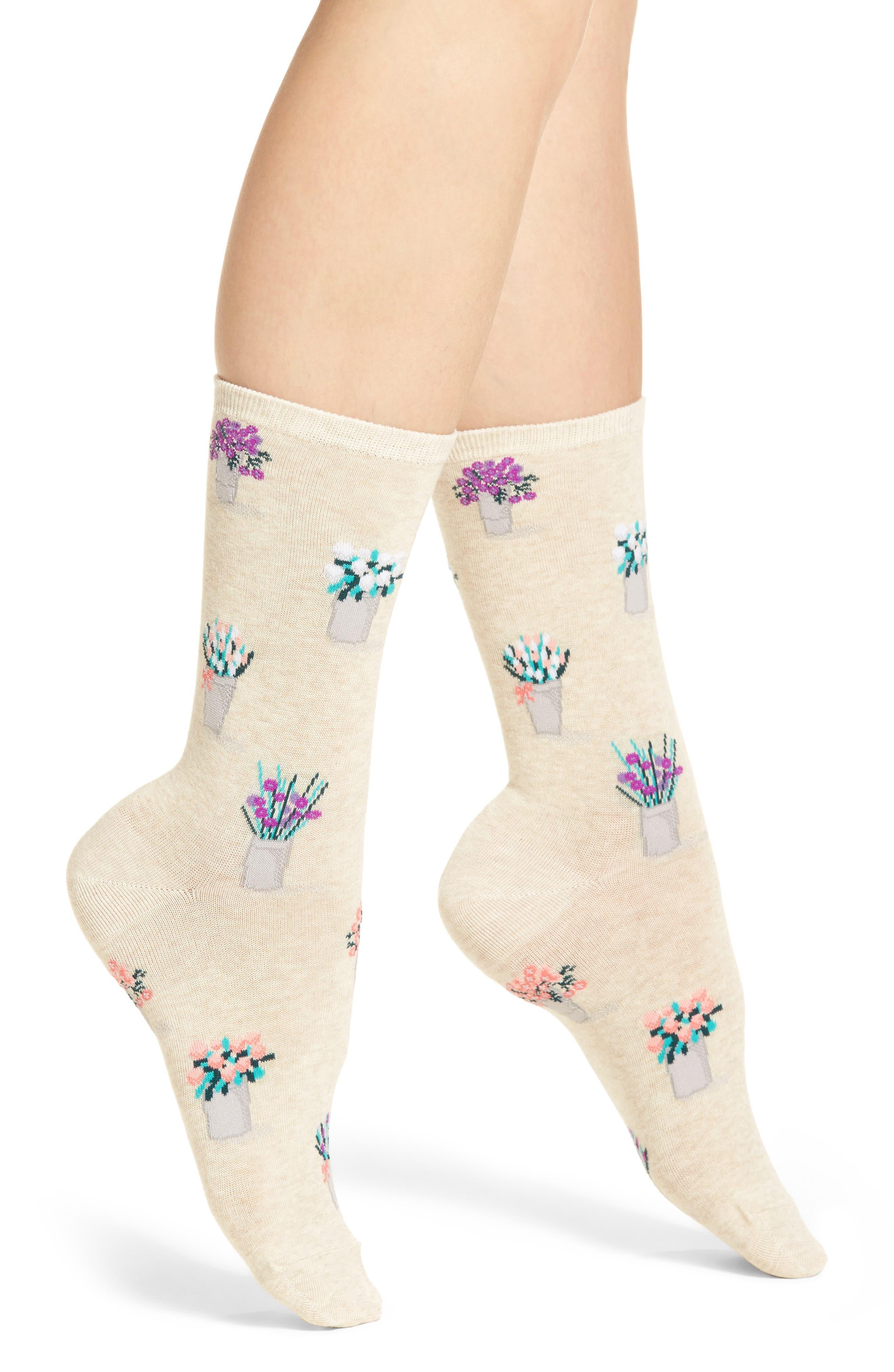 Bouquet Crew Socks,                         Main,                         color, 257