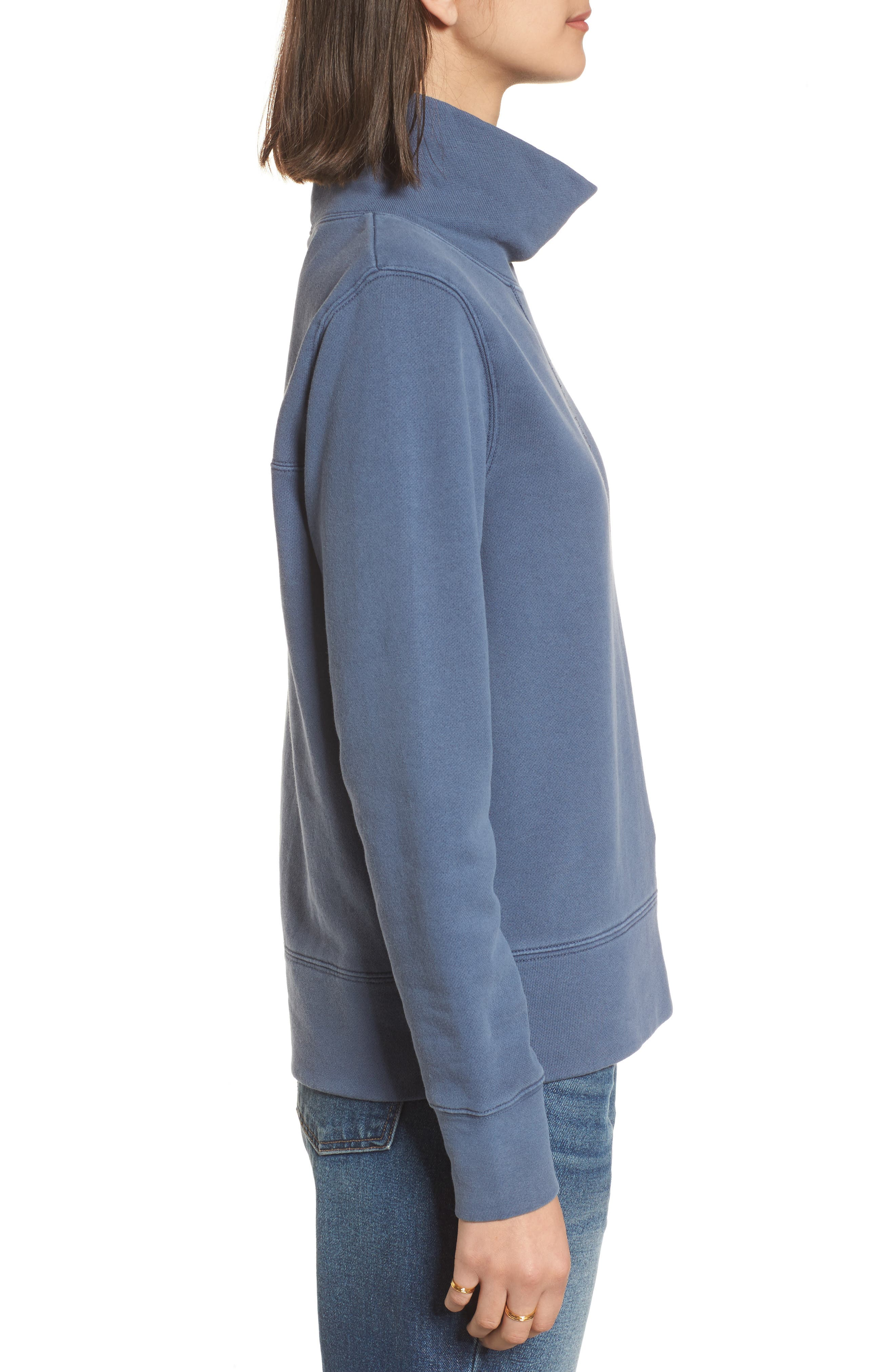 Garment Dyed Funnel Neck Sweatshirt,                             Alternate thumbnail 10, color,