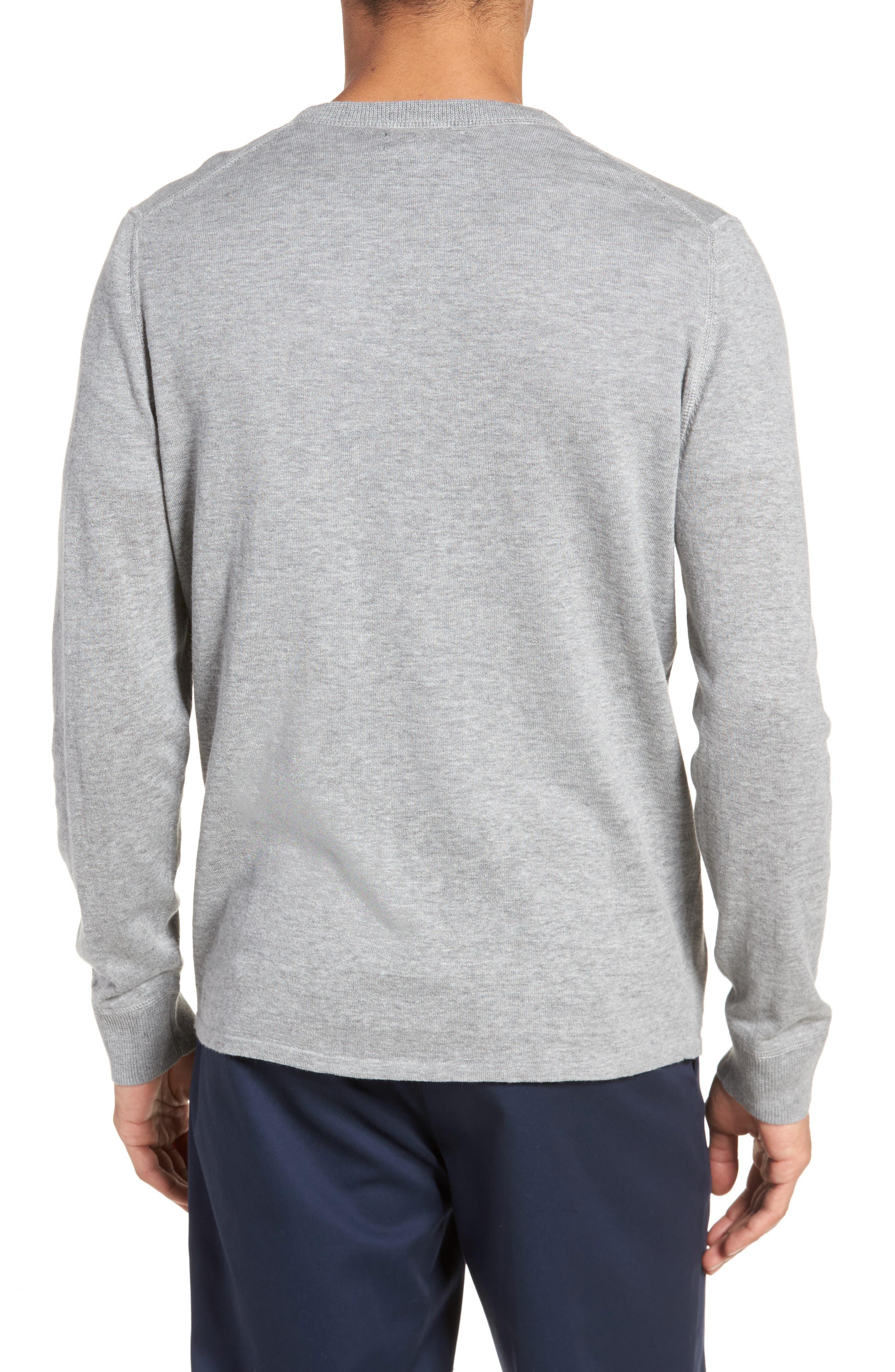 Long Sleeve Cotton & Linen Blend Henley,                             Alternate thumbnail 2, color,                             030