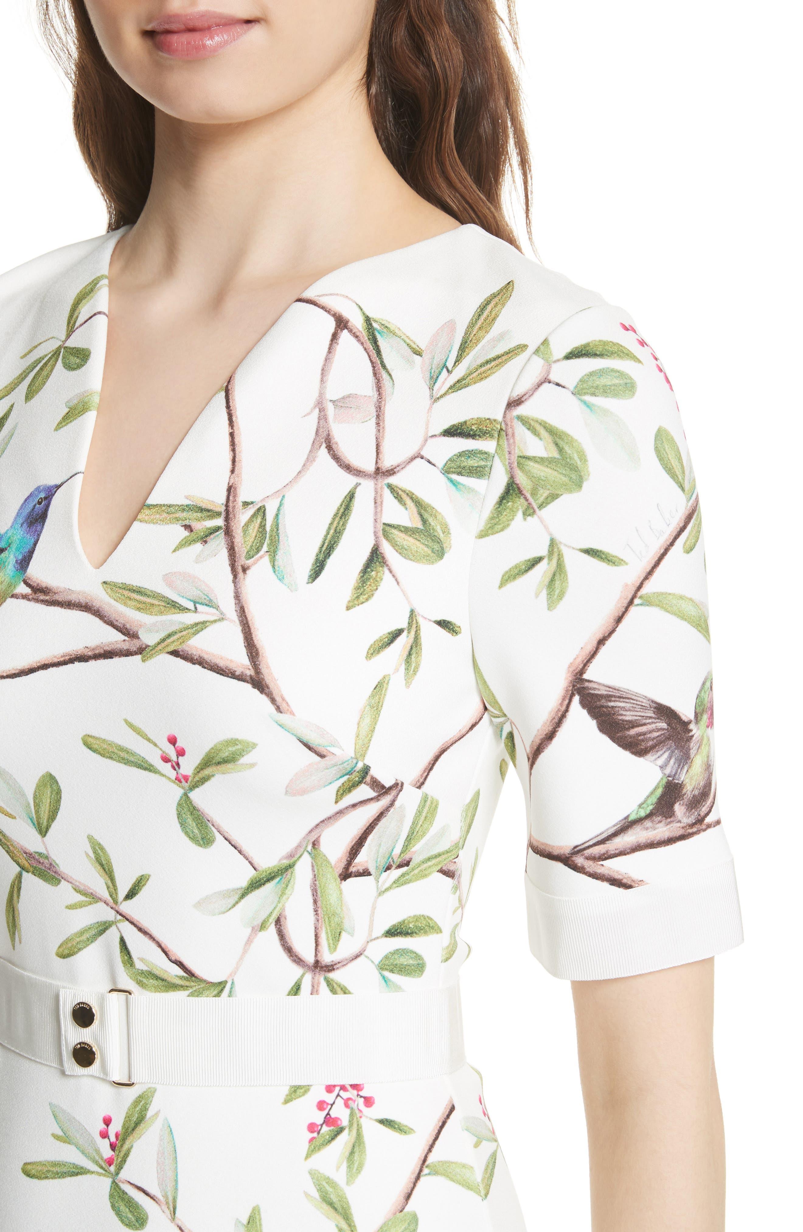 Highgrove Body-Con Dress,                             Alternate thumbnail 4, color,                             110