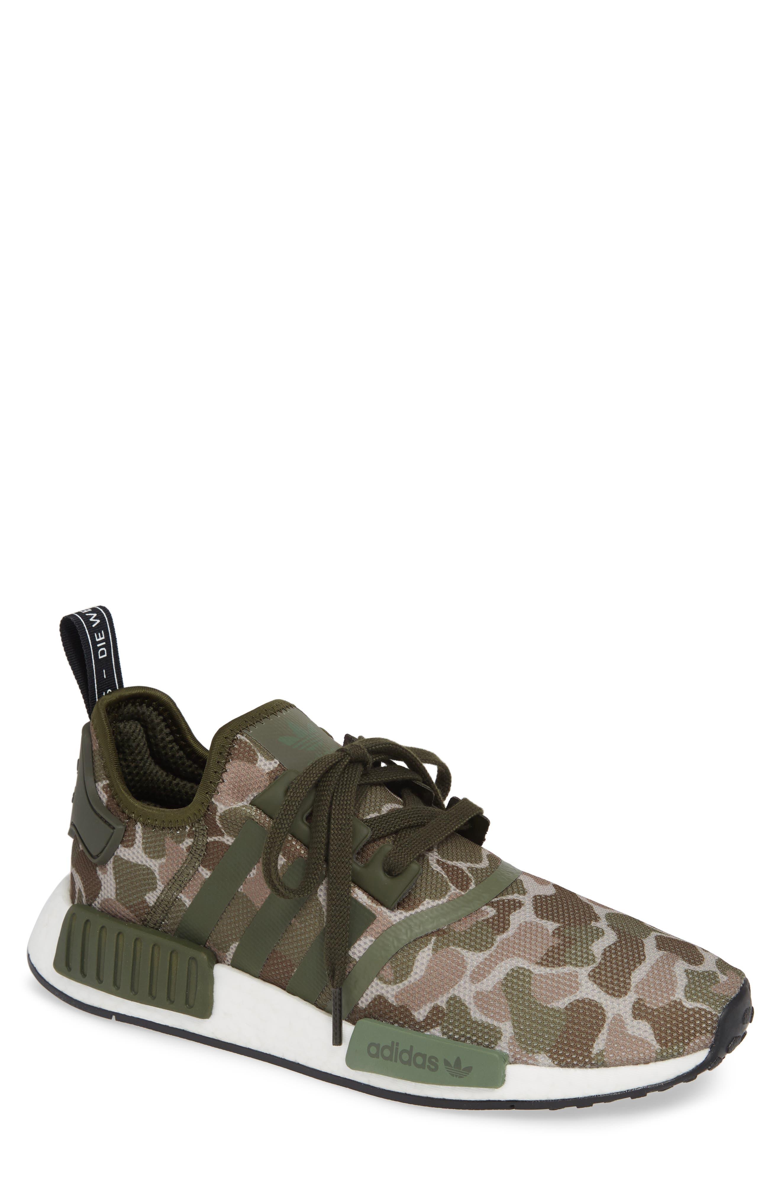 NMD R1 Camo Sneaker,                         Main,                         color, 305