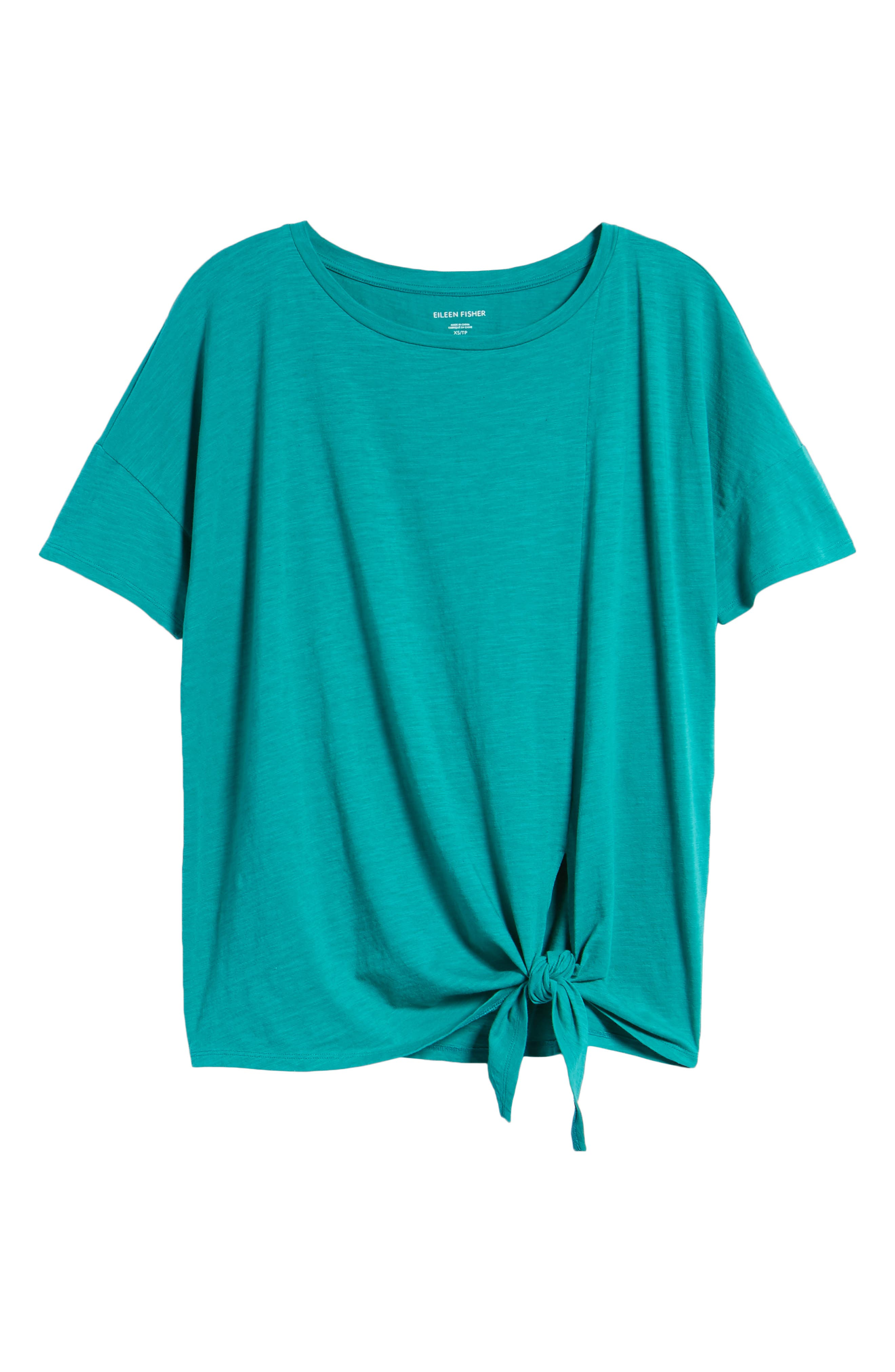 Tie Hem Organic Cotton Tee,                             Alternate thumbnail 30, color,
