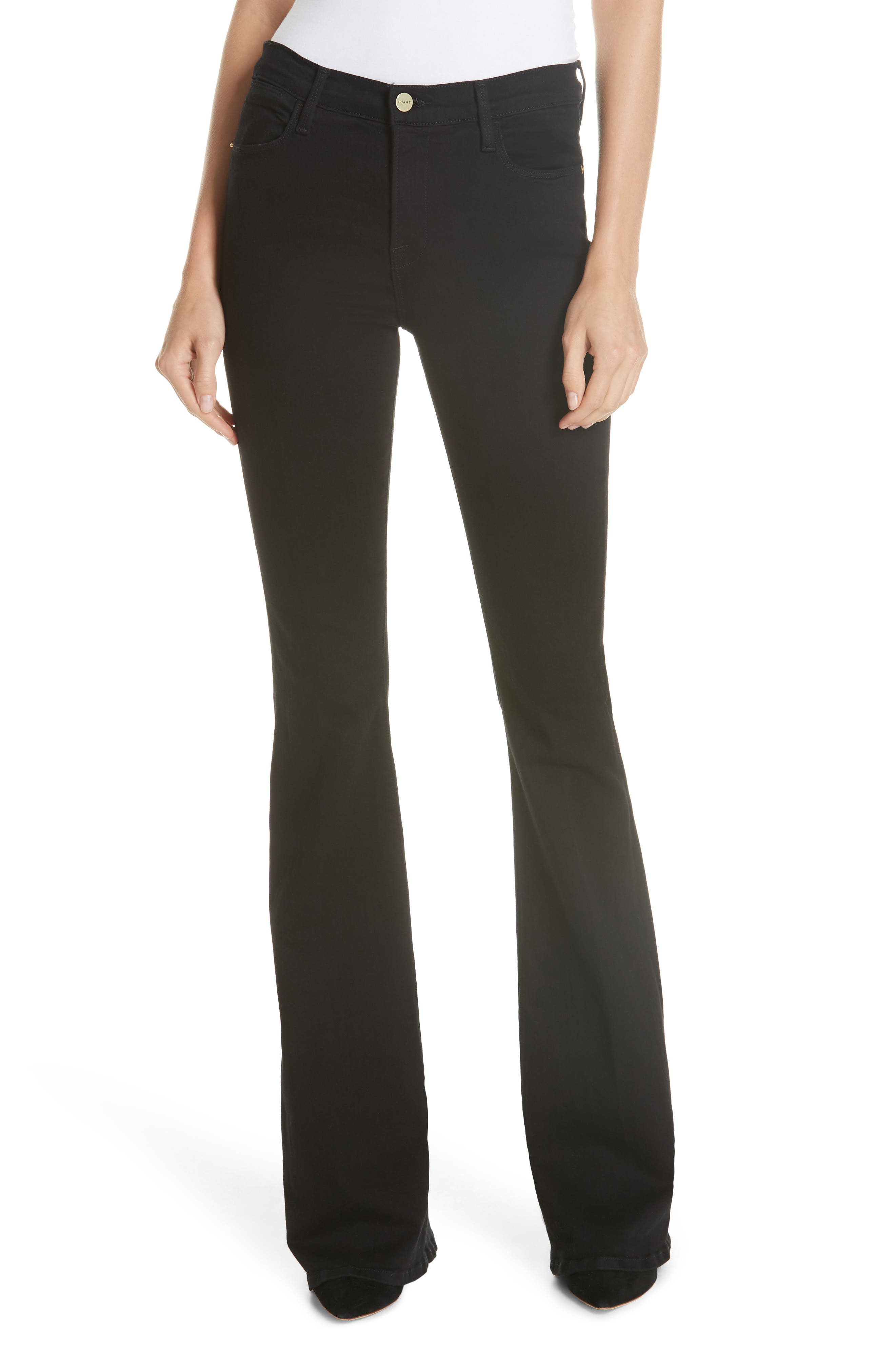 Le High Flare Jeans - Black Size 23