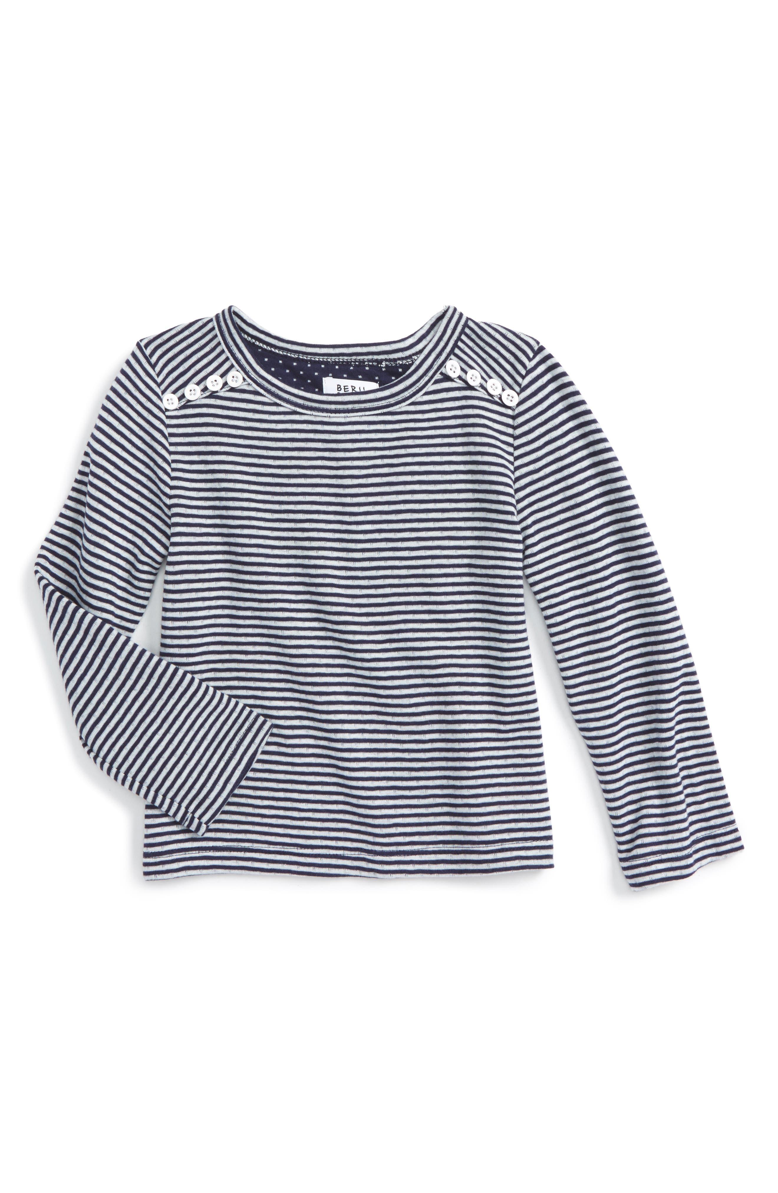 Bella Stripe Knit Tee,                             Main thumbnail 1, color,