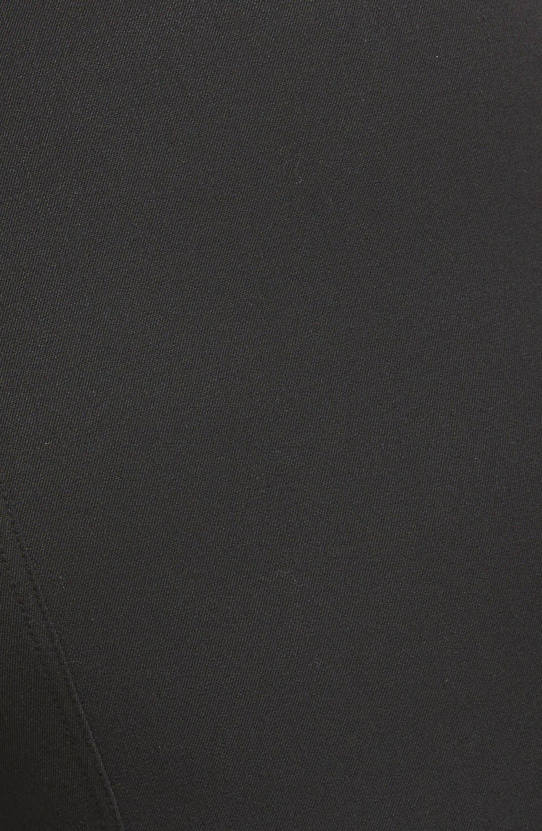 Seam Detail Pants,                             Alternate thumbnail 4, color,                             RICH BLACK