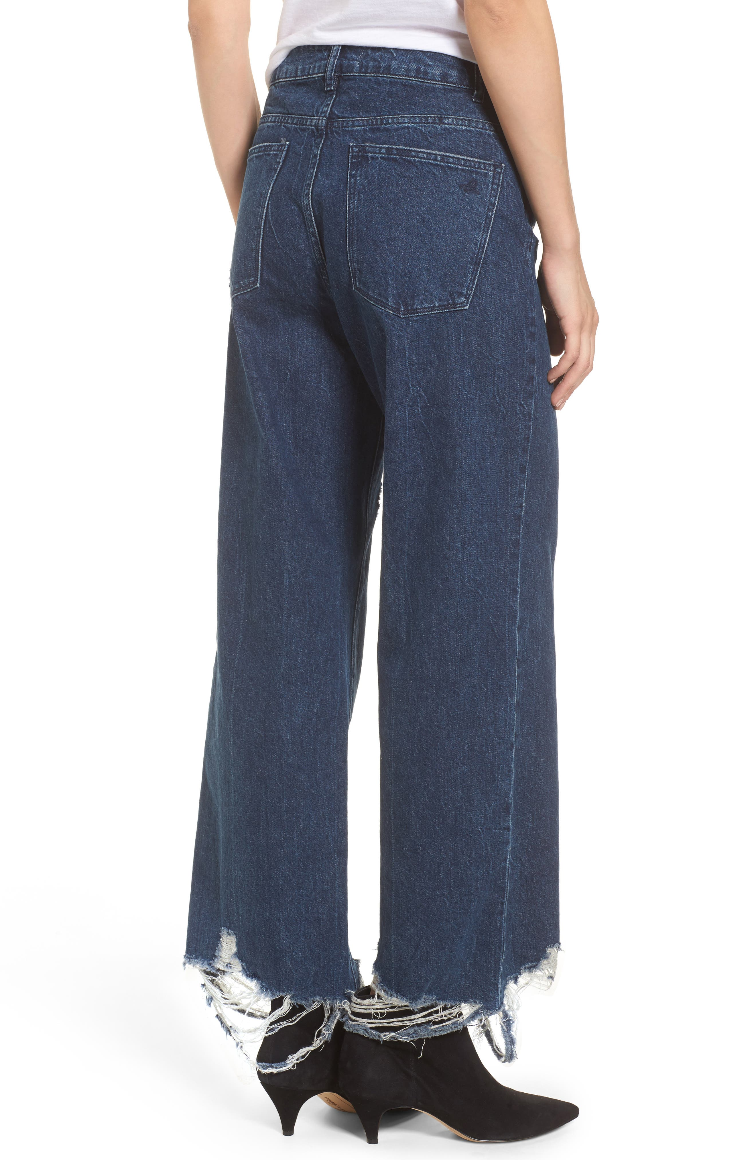 Hepburn High Waist Wide Leg Jeans,                             Alternate thumbnail 2, color,