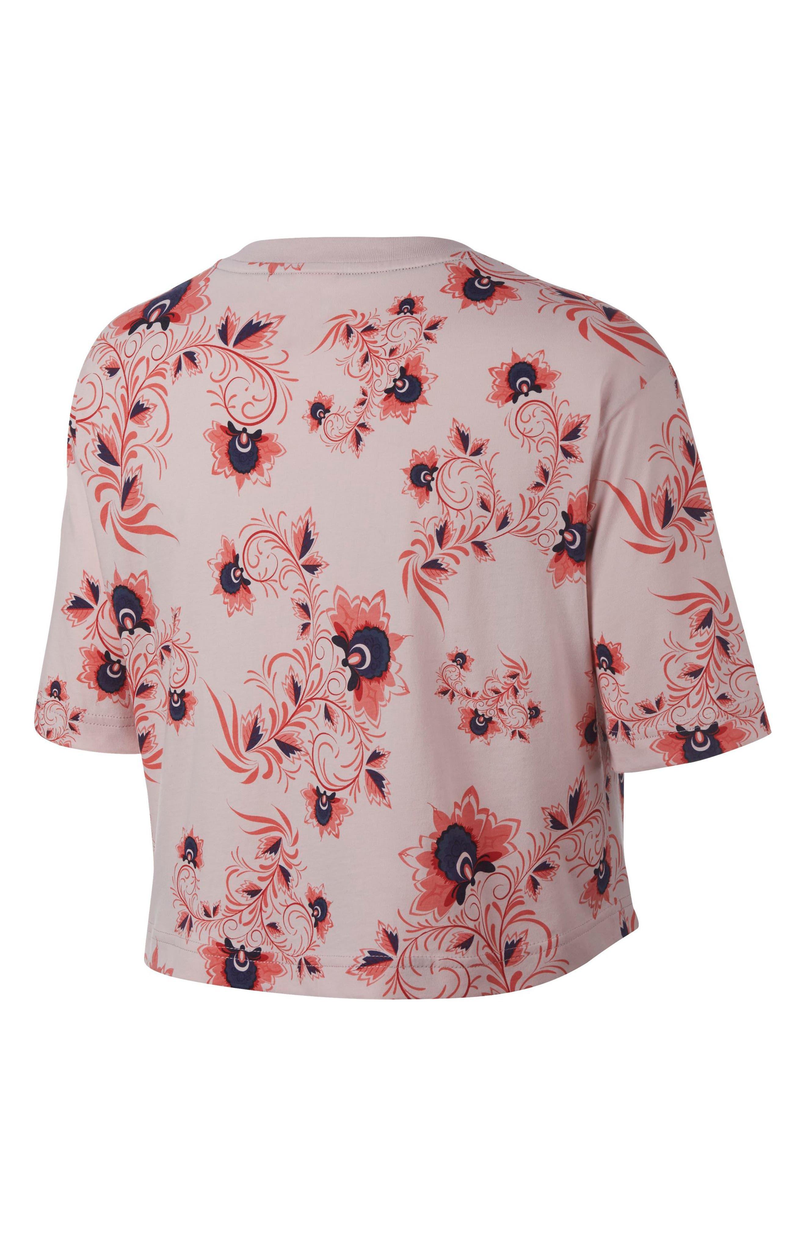 Sportswear Russian Floral Print Crop Tee,                             Alternate thumbnail 10, color,