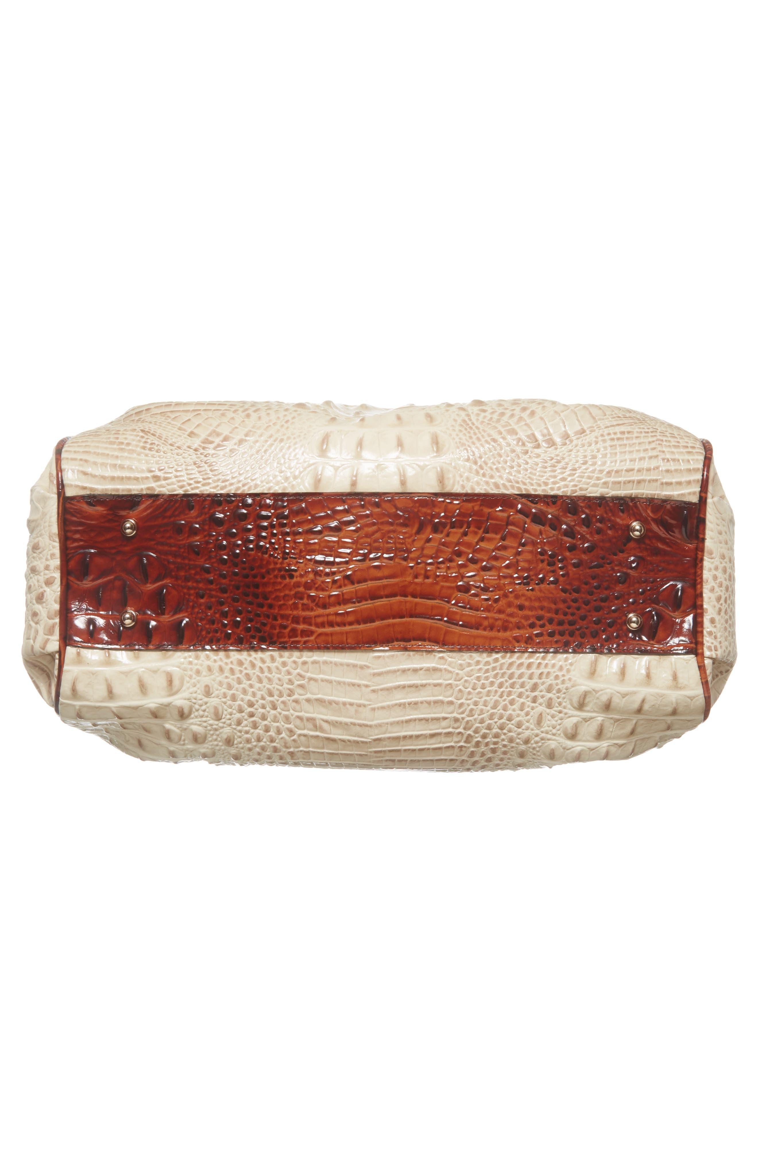 Elisa Leather Shoulder Bag,                             Alternate thumbnail 6, color,                             VANILLA