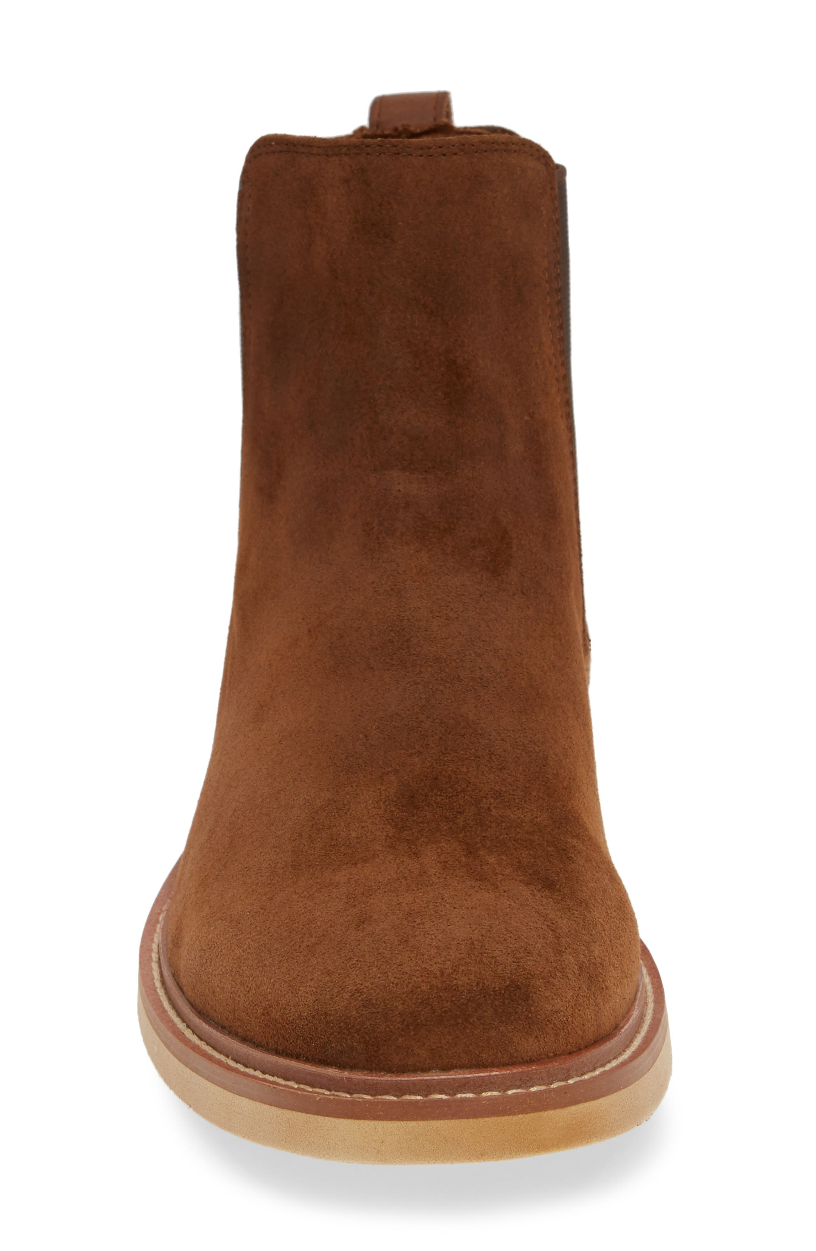 Whistler Mid Chelsea Boot,                             Alternate thumbnail 4, color,                             TOBACCO SUEDE