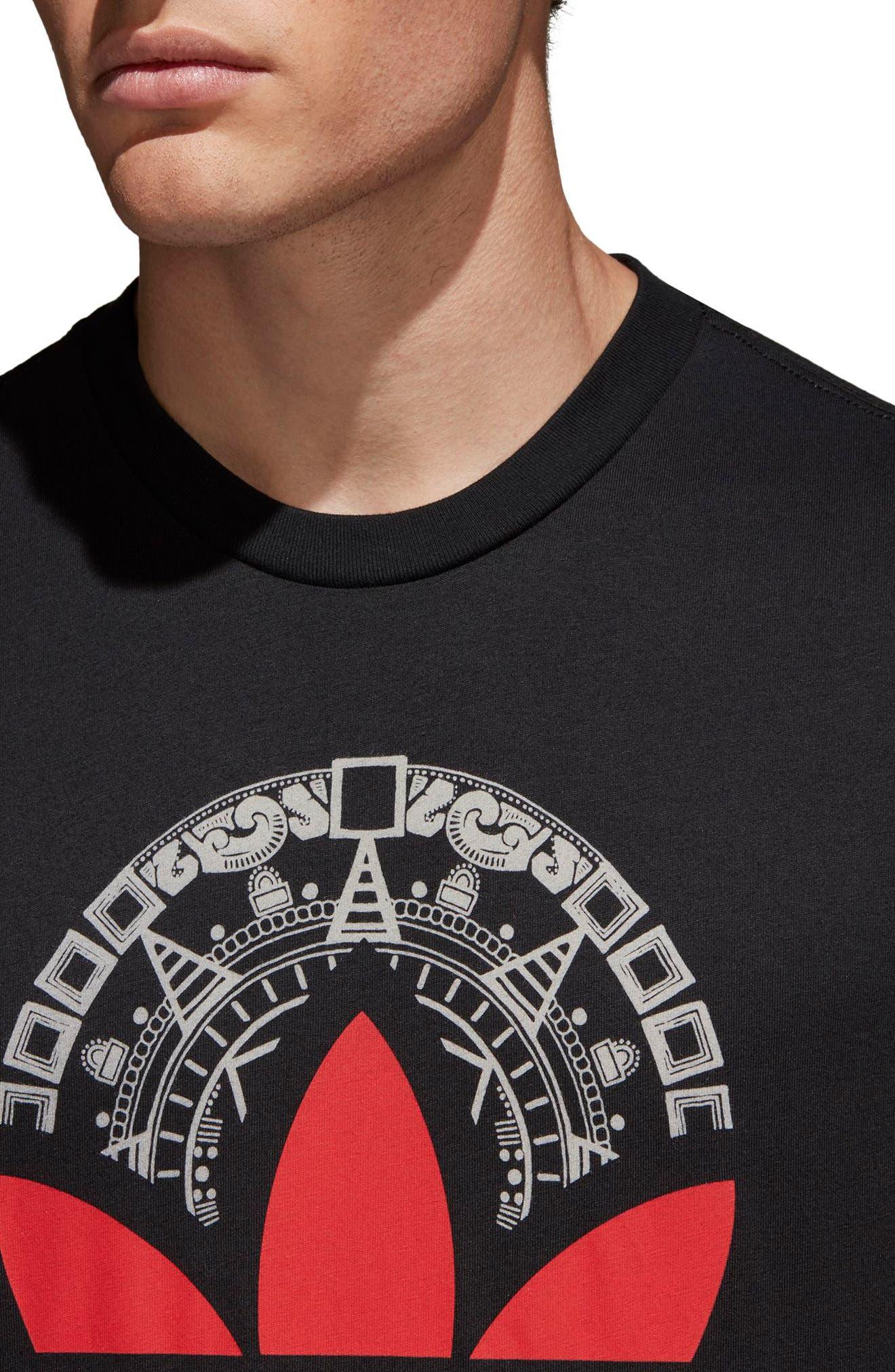 Trefoil T-Shirt,                             Alternate thumbnail 4, color,                             001