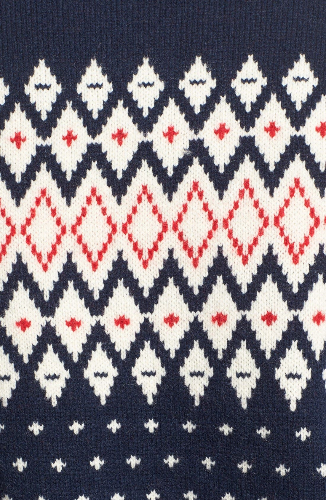 Lambswool Fair Isle Crewneck Sweater,                             Alternate thumbnail 3, color,