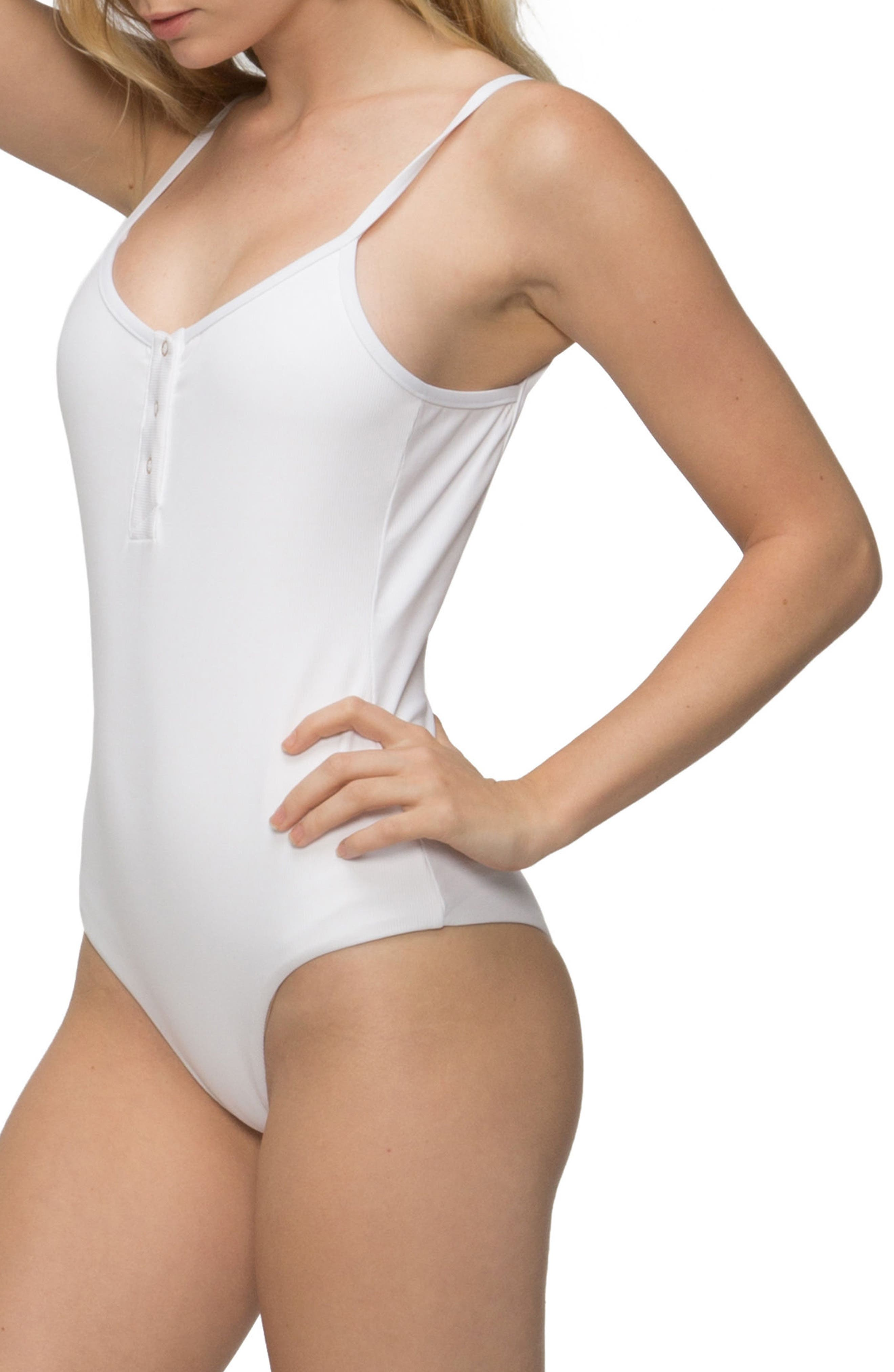 Lila Ribbed One-Piece Swimsuit,                             Alternate thumbnail 3, color,                             100