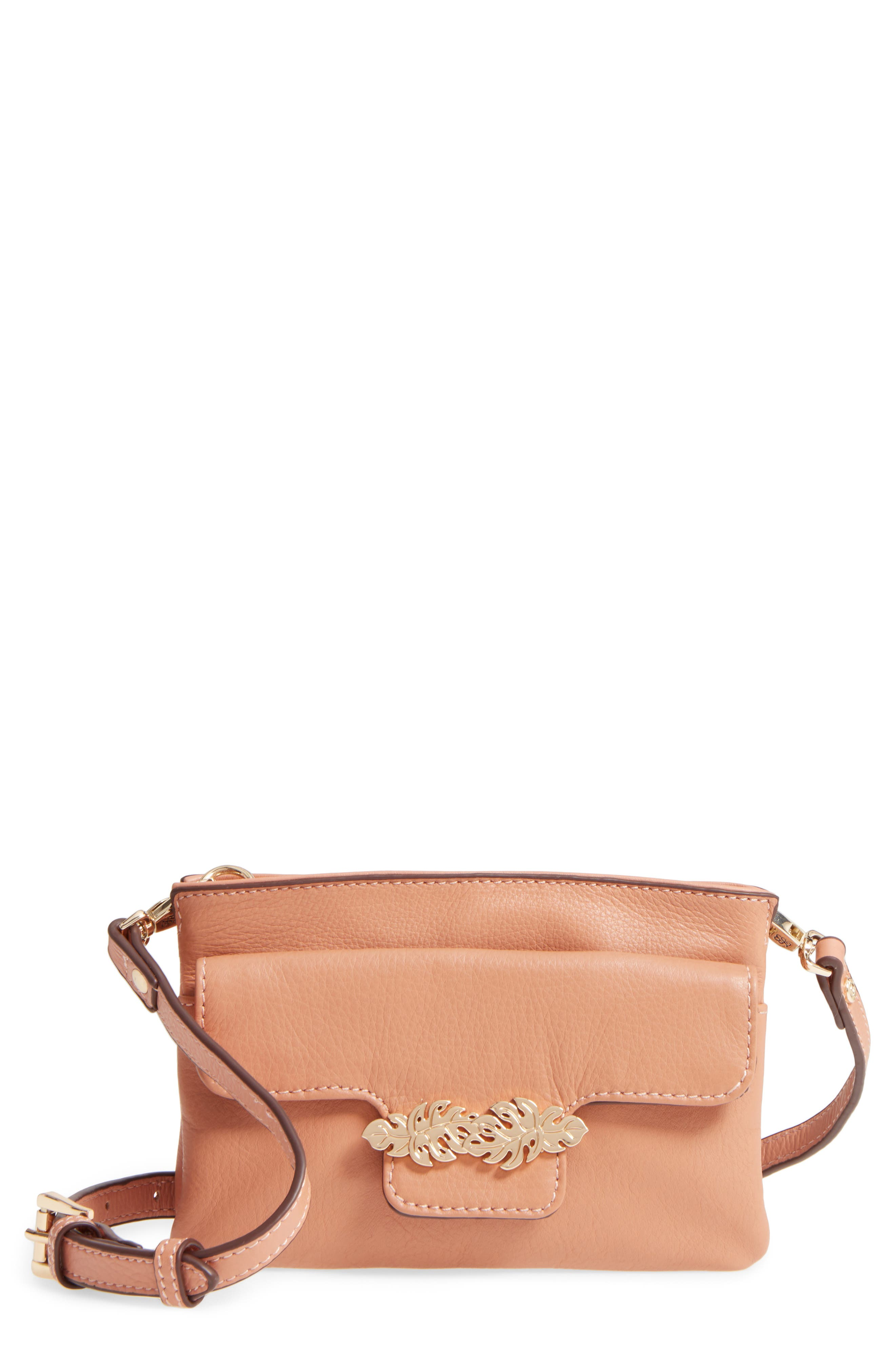 Katerini Leather Crossbody Wallet,                             Main thumbnail 1, color,                             650