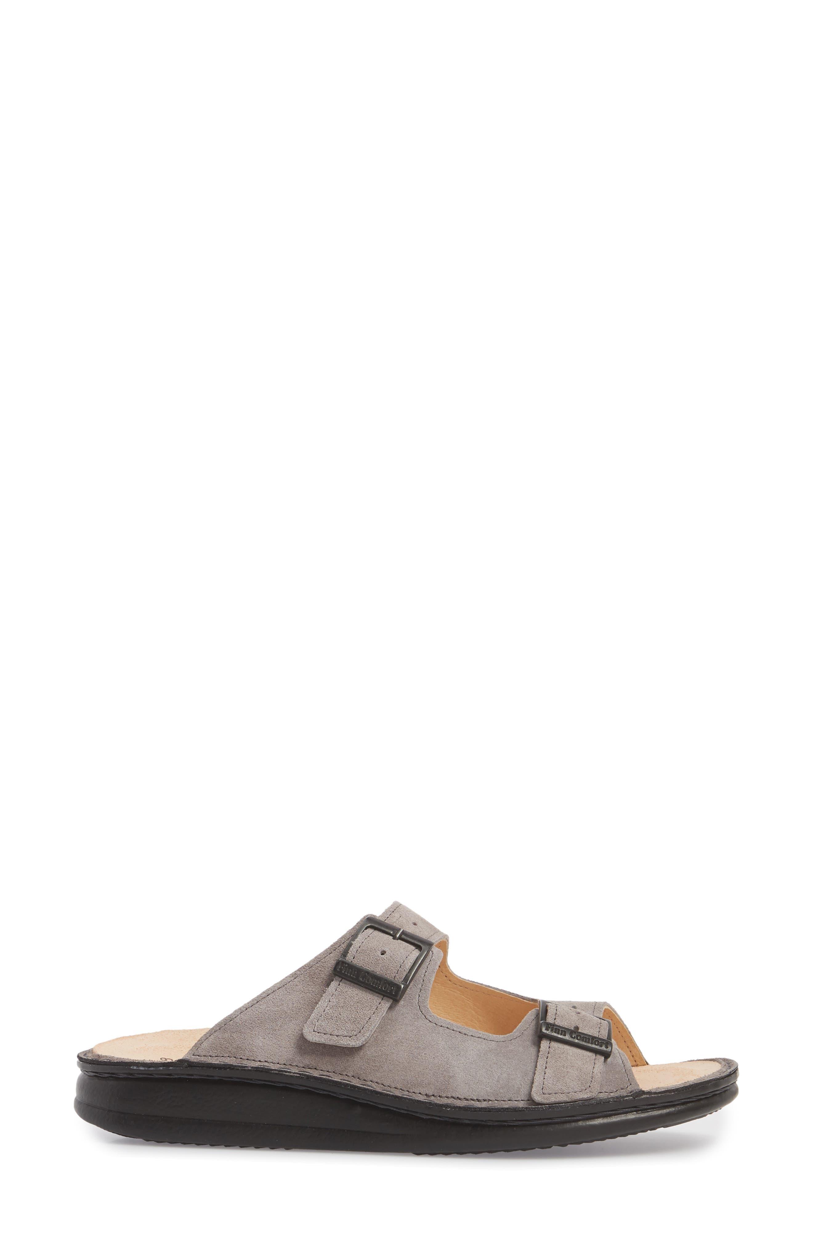 Hollister Slide Sandal,                             Alternate thumbnail 3, color,                             GINGER LEATHER
