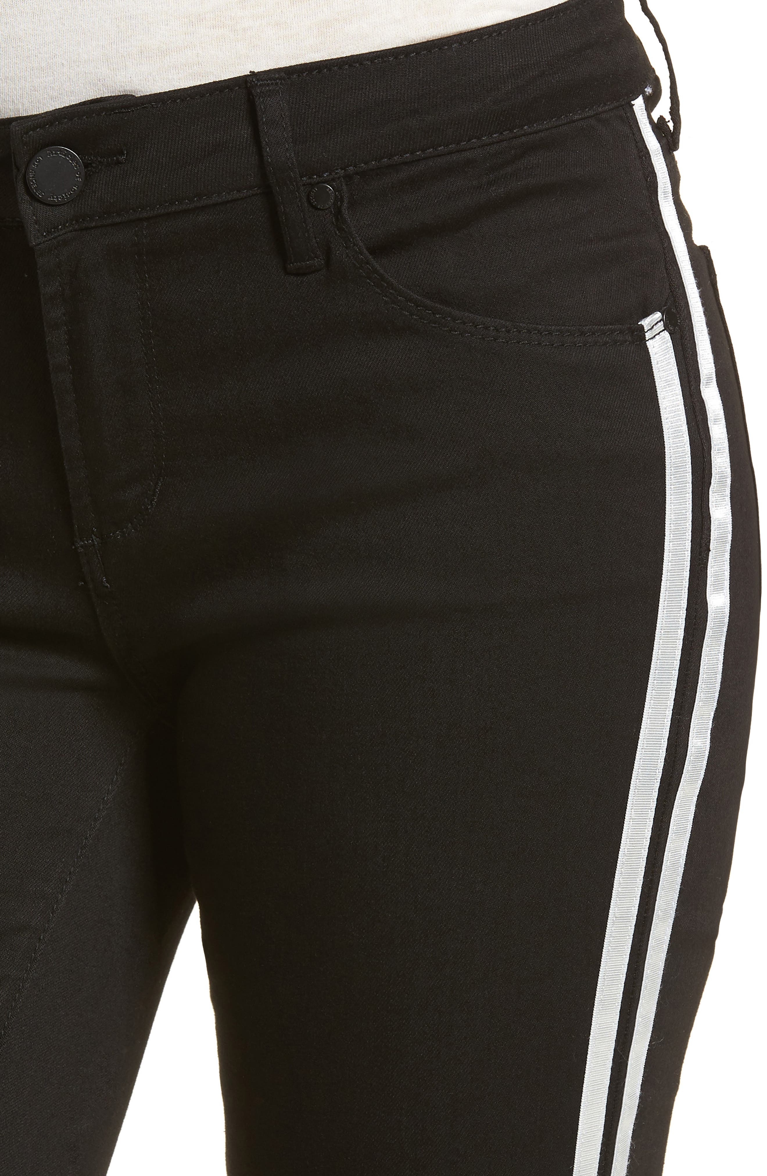 Sarah Stripe Skinny Jeans,                             Alternate thumbnail 4, color,                             011