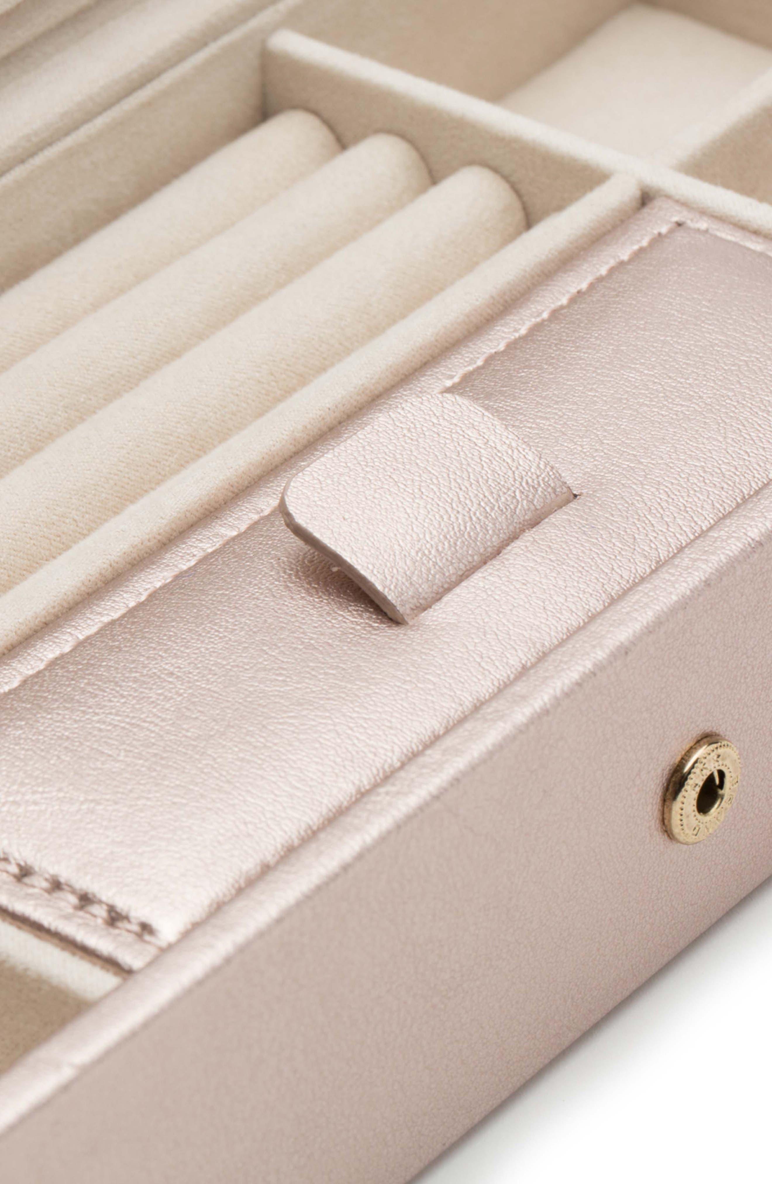 Palermo Safe Deposit Jewelry Box,                             Alternate thumbnail 3, color,                             ROSE GOLD