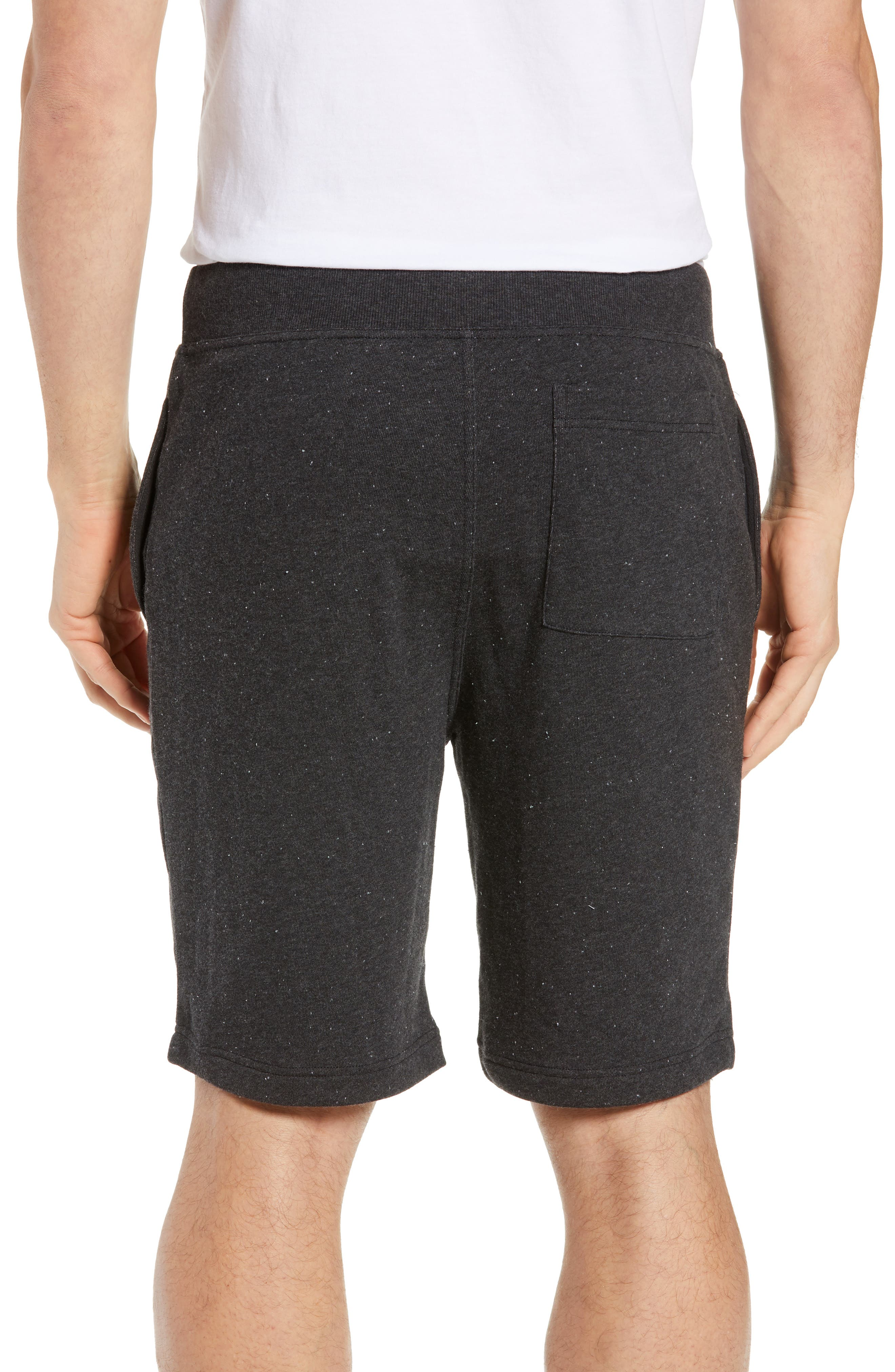UGG<SUP>®</SUP>,                             Zavier Terry Lounge Shorts,                             Alternate thumbnail 2, color,                             BLACK