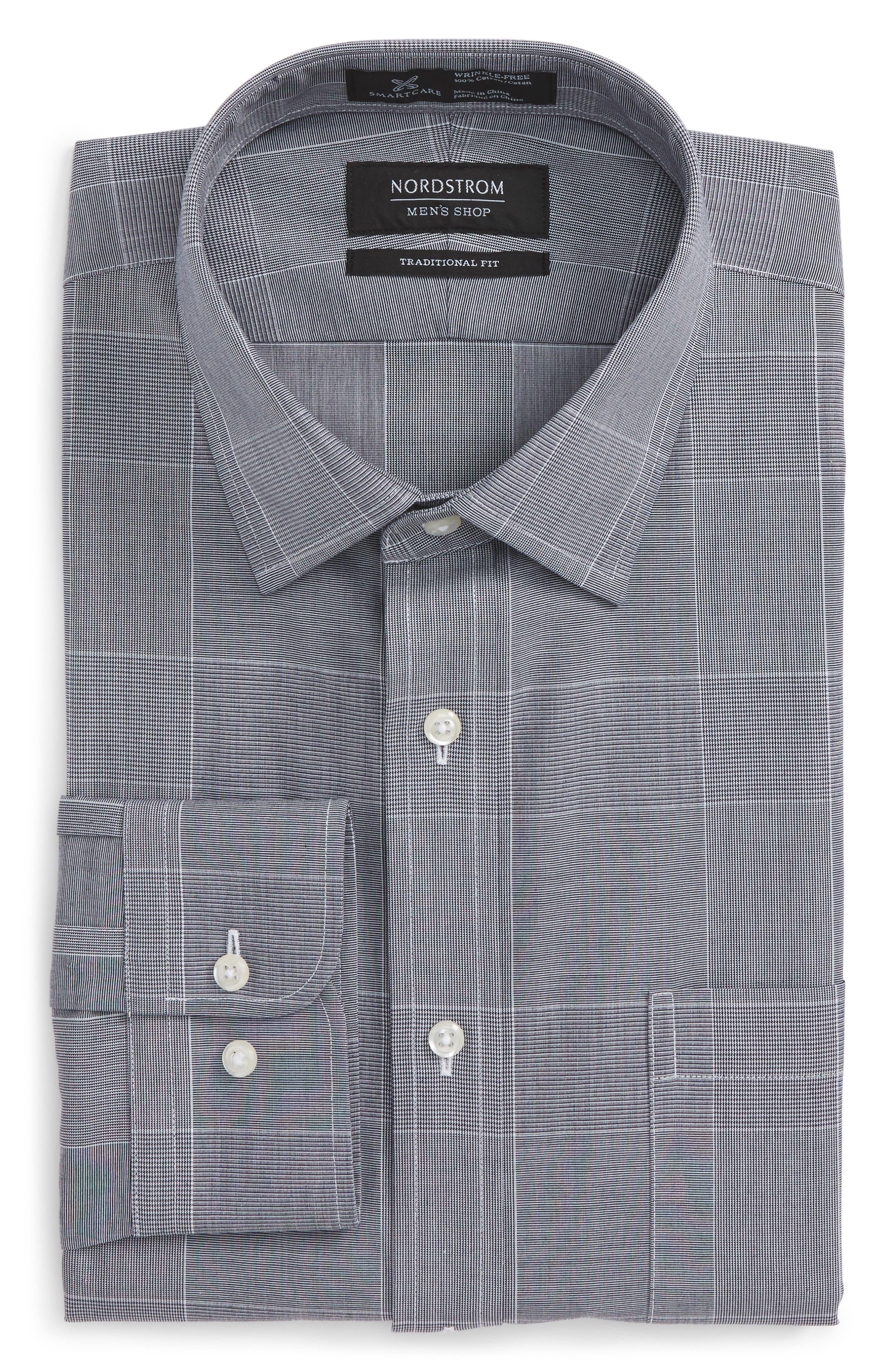 Smartcare<sup>™</sup> Traditional Fit Plaid Dress Shirt,                             Alternate thumbnail 5, color,                             401