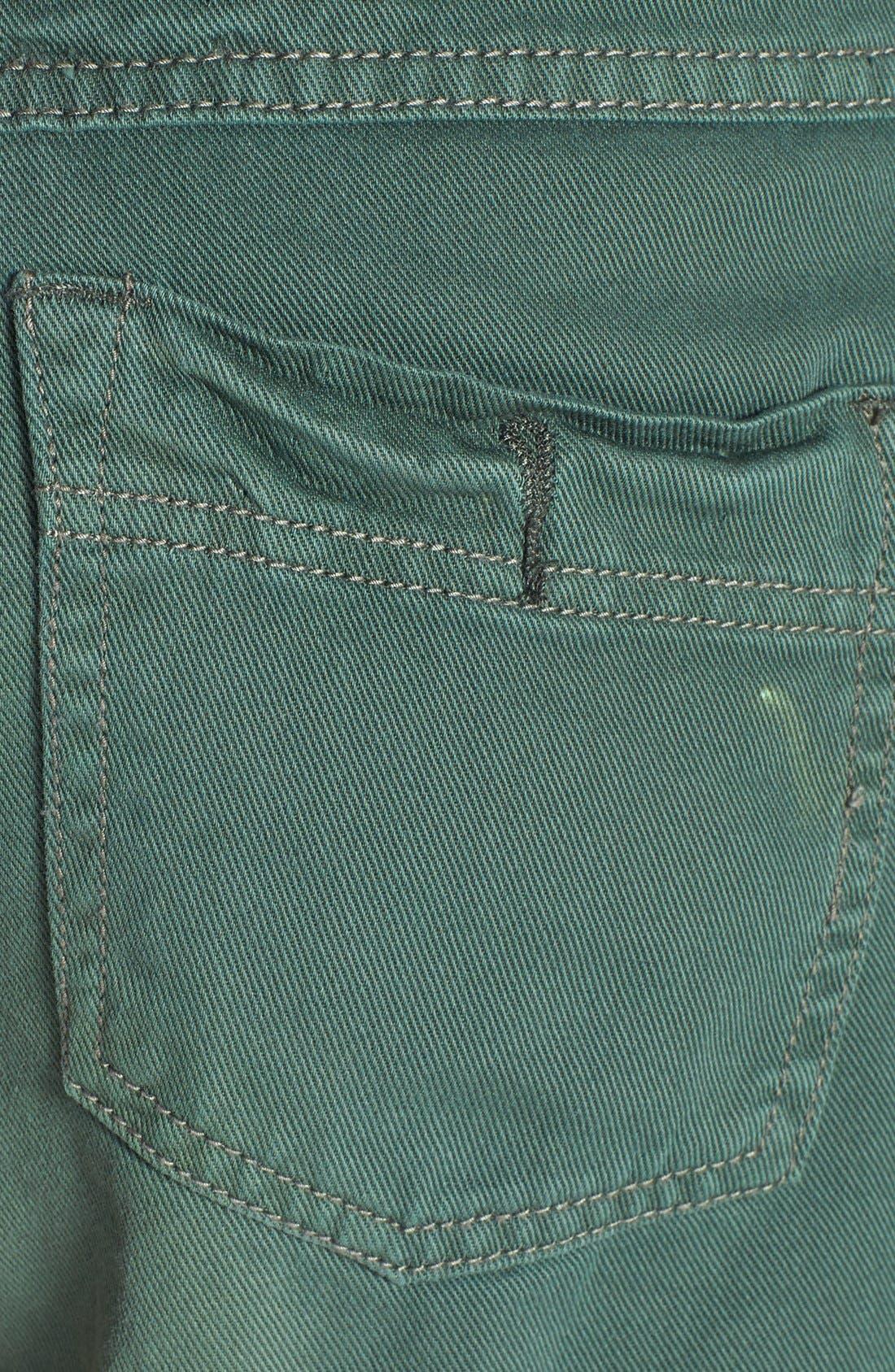 'Dolphin' Cutoff Denim Shorts,                             Alternate thumbnail 11, color,