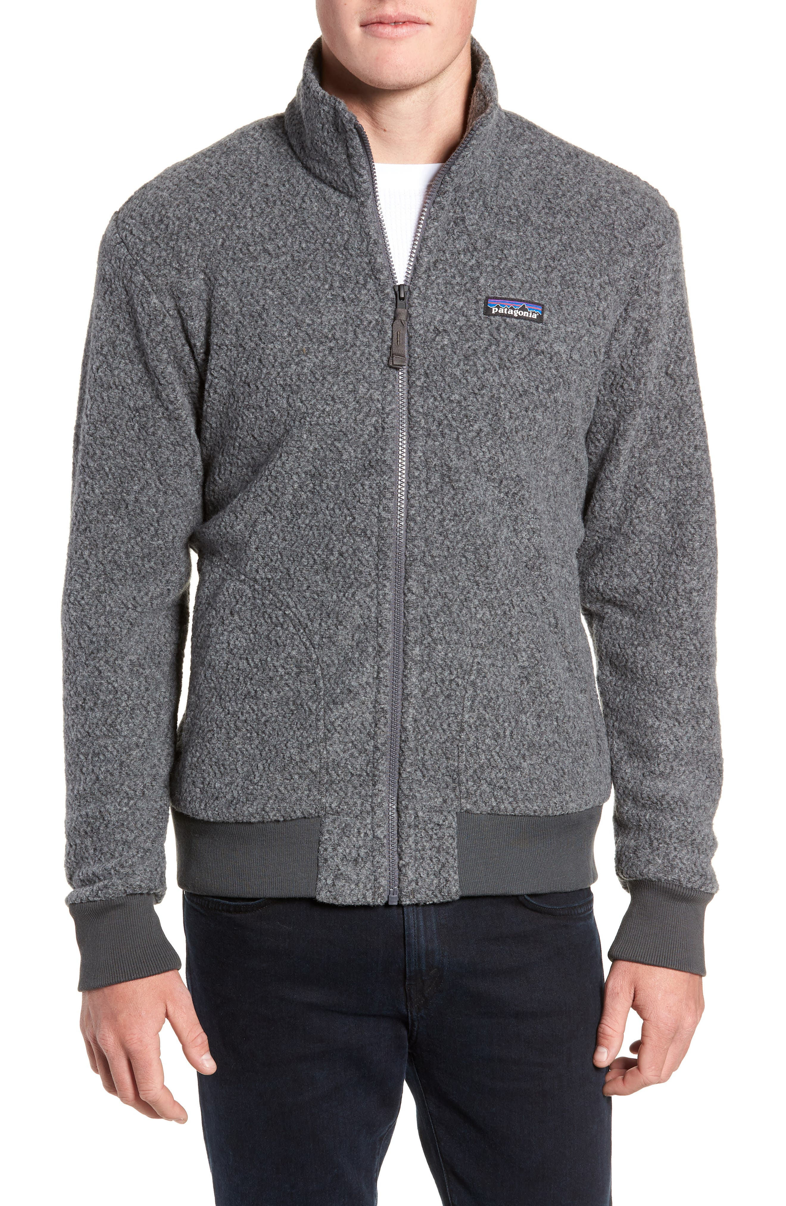 Woolyester Fleece Jacket,                         Main,                         color, FORGE GREY