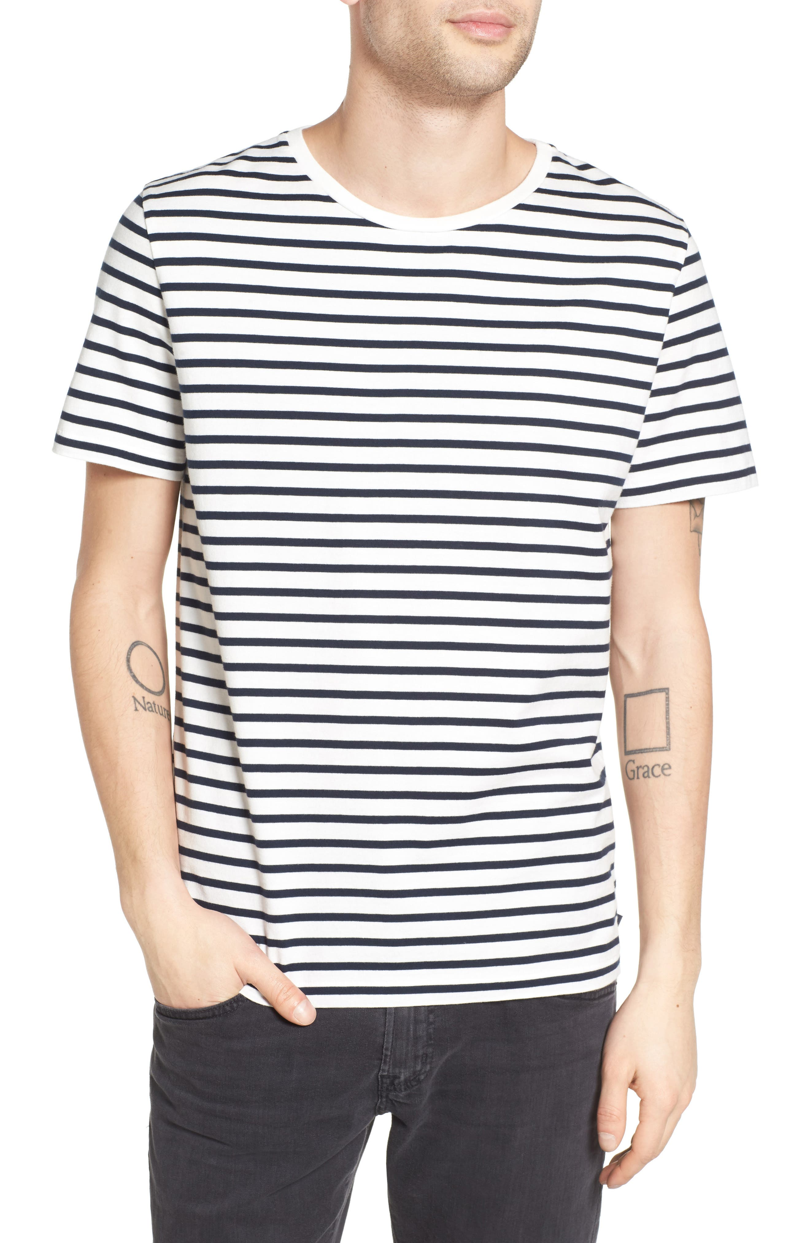 Julian Stripe Crewneck T-Shirt,                         Main,                         color,