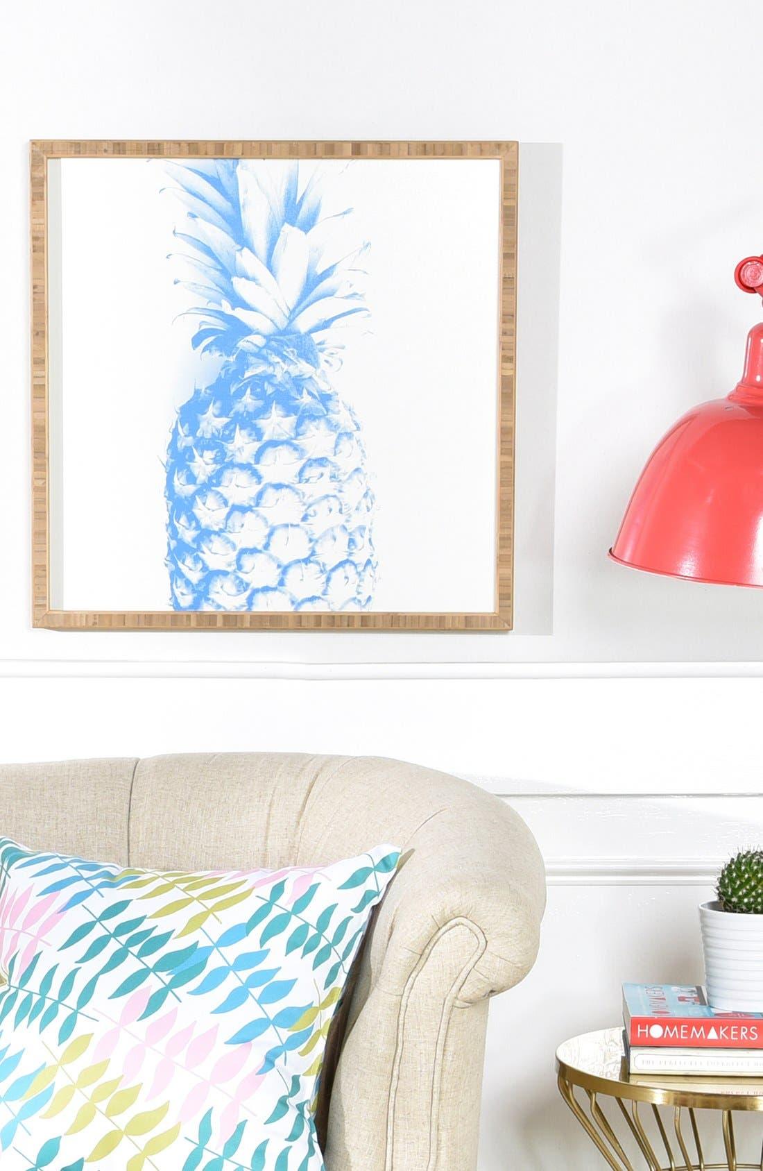 'Pineapple' Framed Wall Art,                             Alternate thumbnail 3, color,                             400