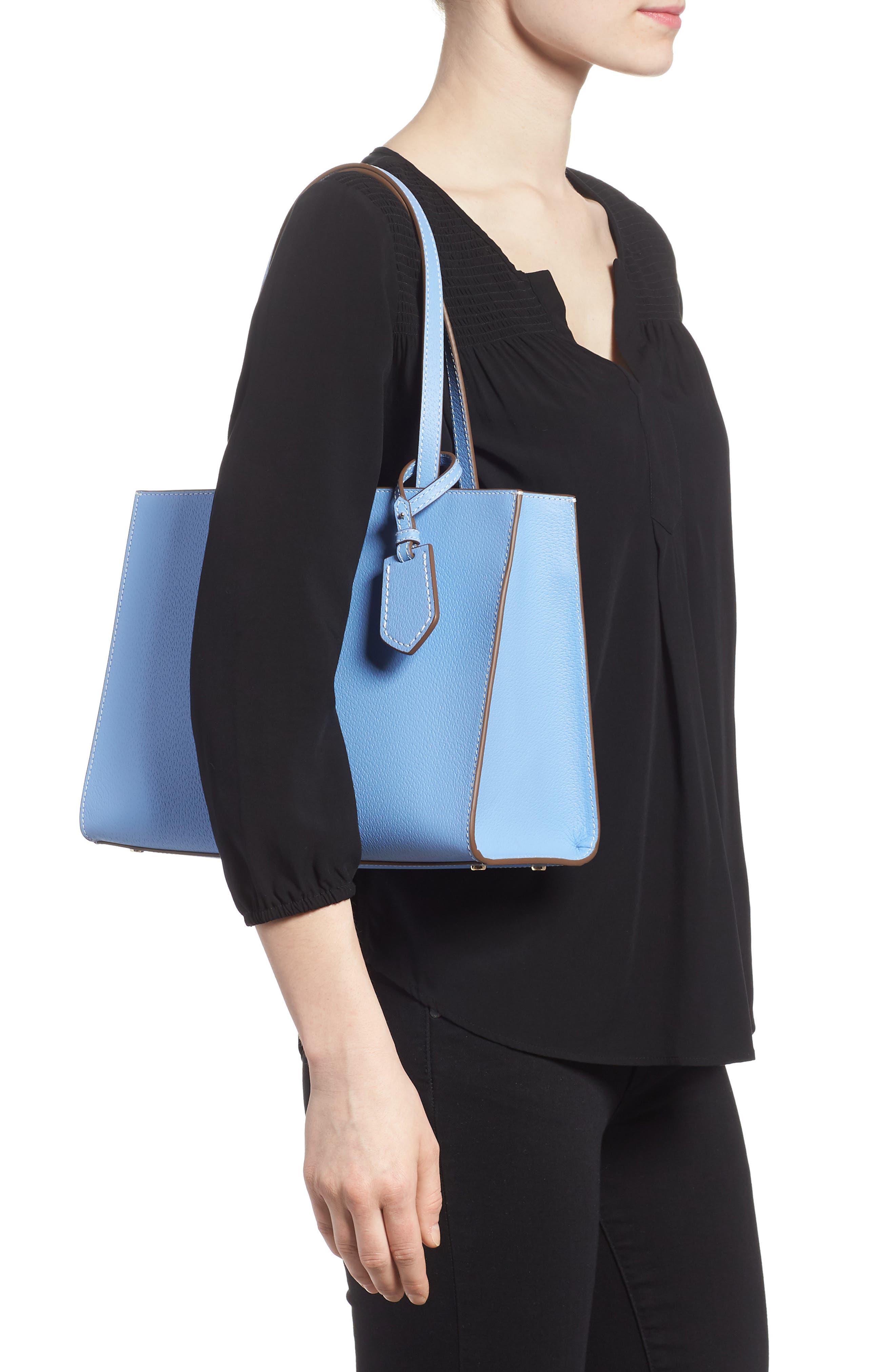 thompson street - large sam leather handbag,                             Alternate thumbnail 4, color,