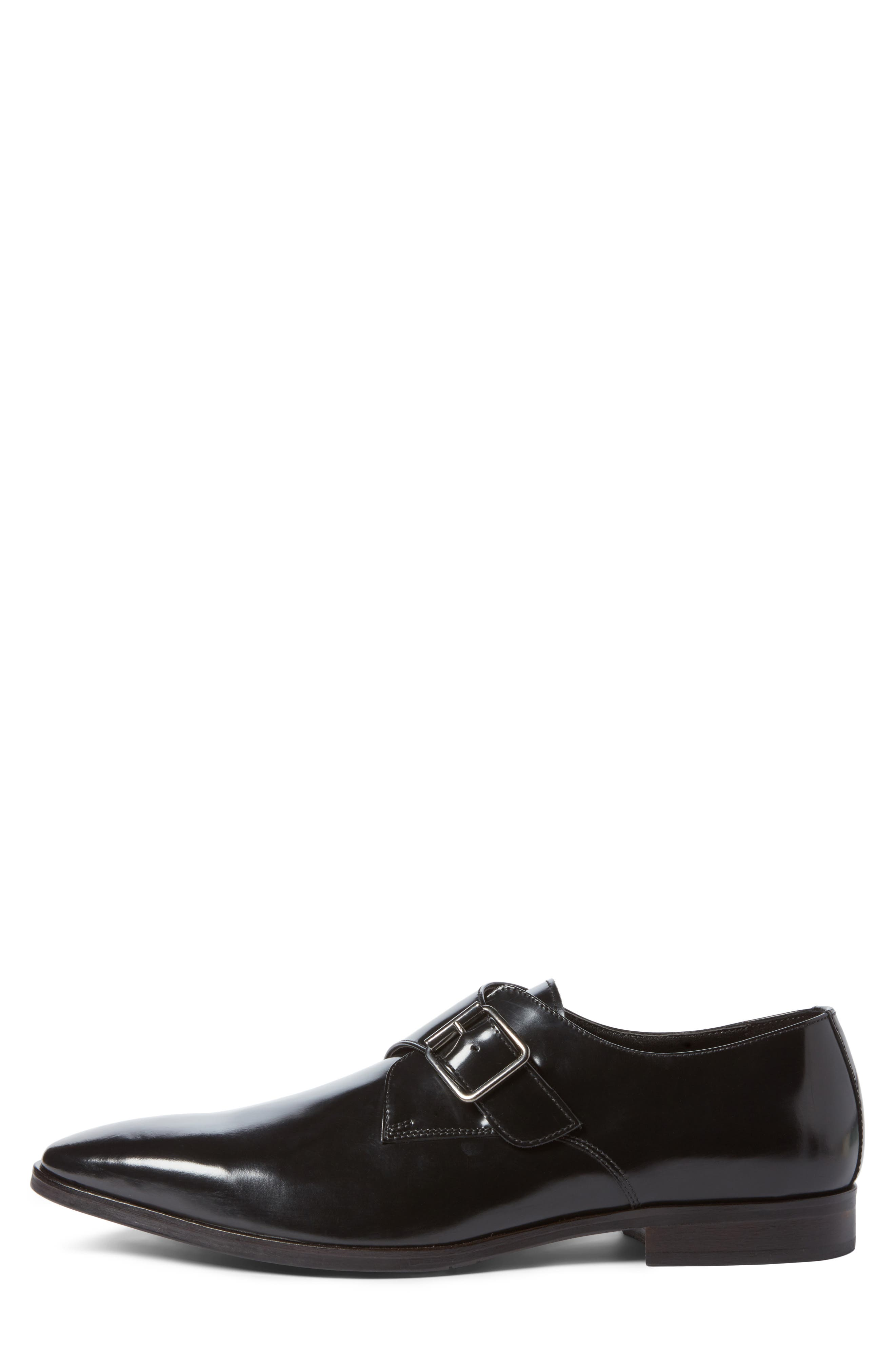 Webster Single Strap Monk Shoe,                             Alternate thumbnail 3, color,                             001