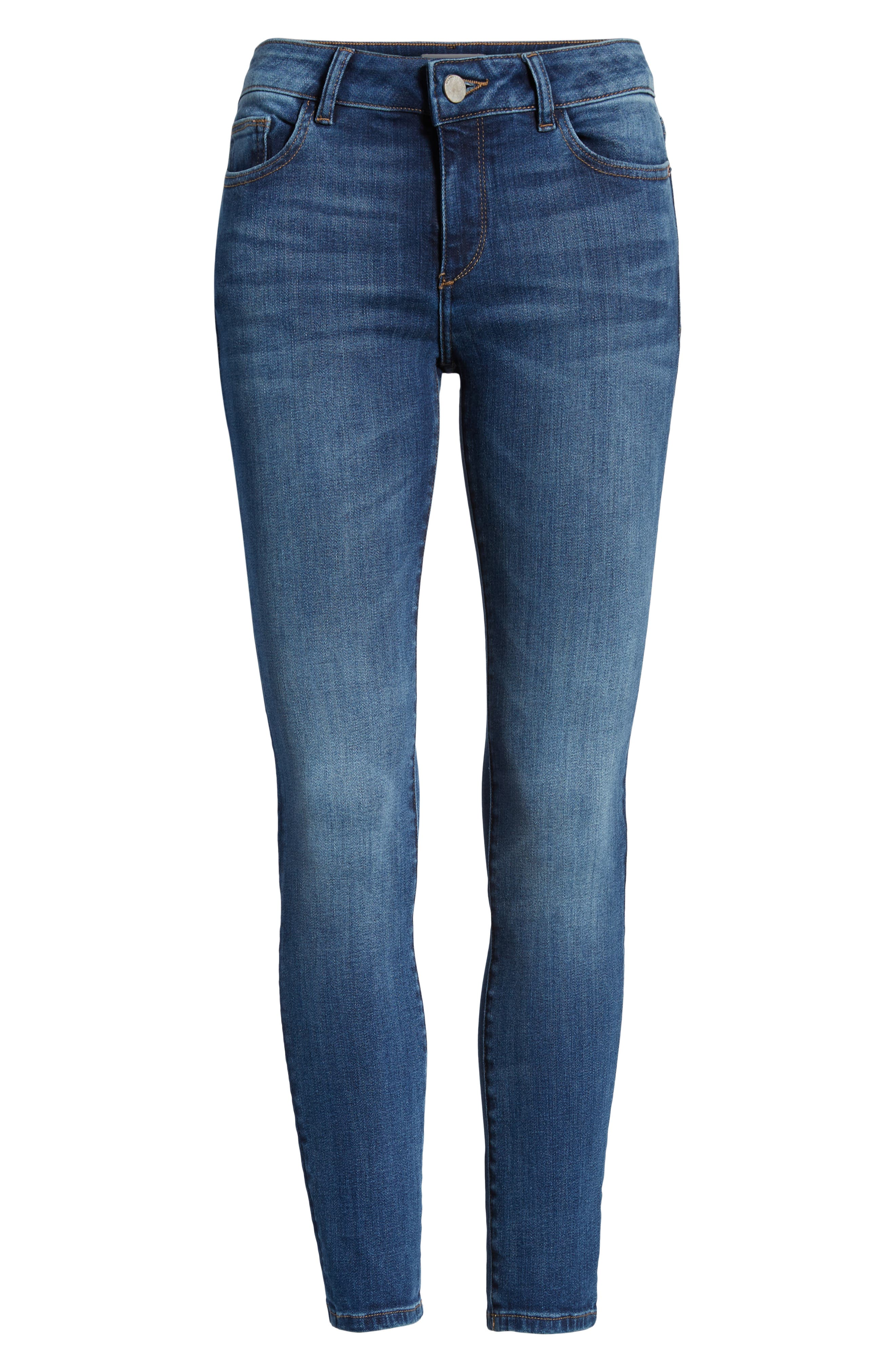 DL1961,                             Florence Midrise Instasculpt Ankle Skinny Jeans,                             Alternate thumbnail 7, color,                             SABINE