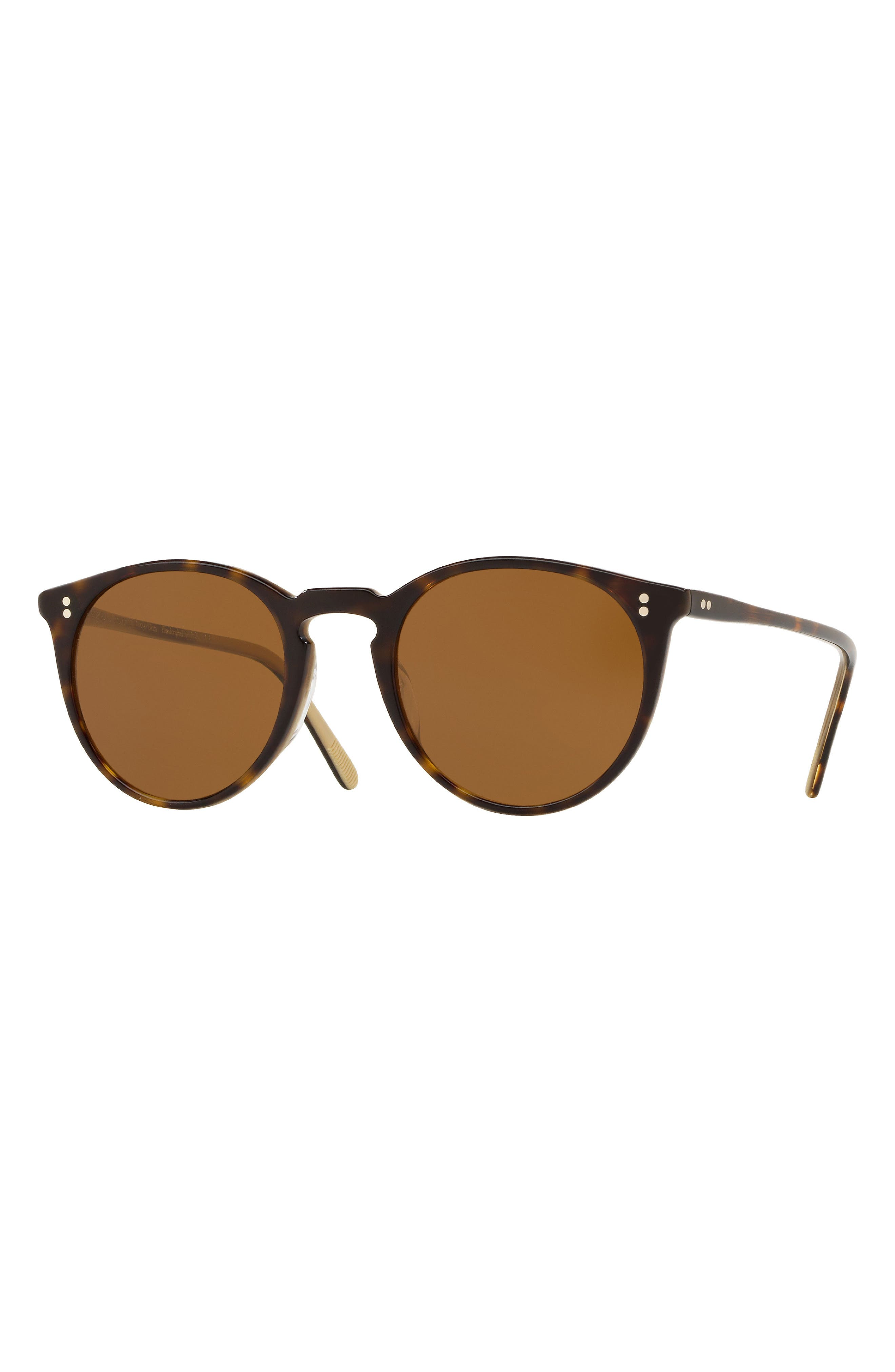 O'Malley 48mm Round Sunglasses,                             Alternate thumbnail 2, color,                             HORN BROWN