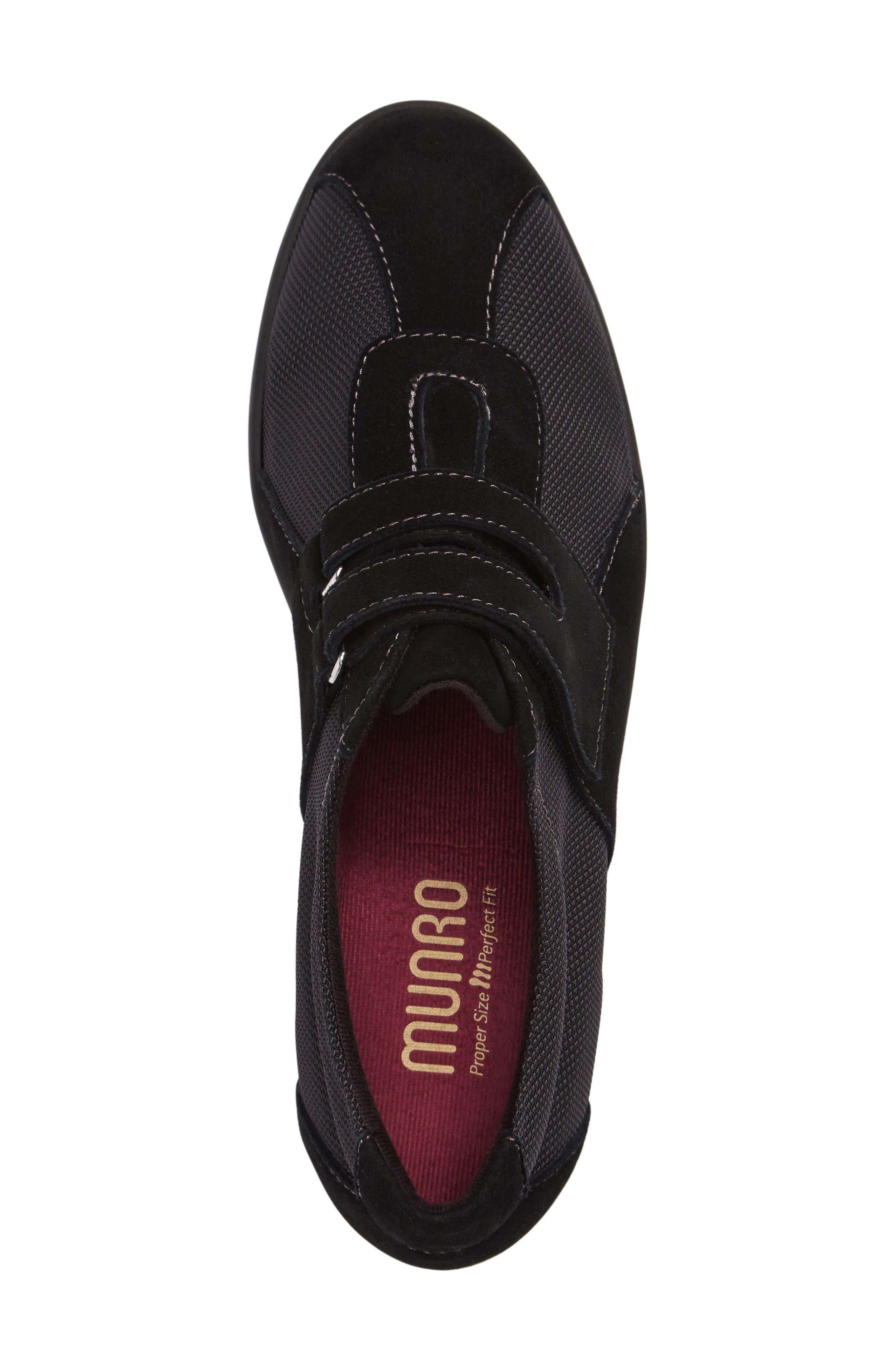 Joliet Sneaker,                             Alternate thumbnail 3, color,                             BLACK FABRIC