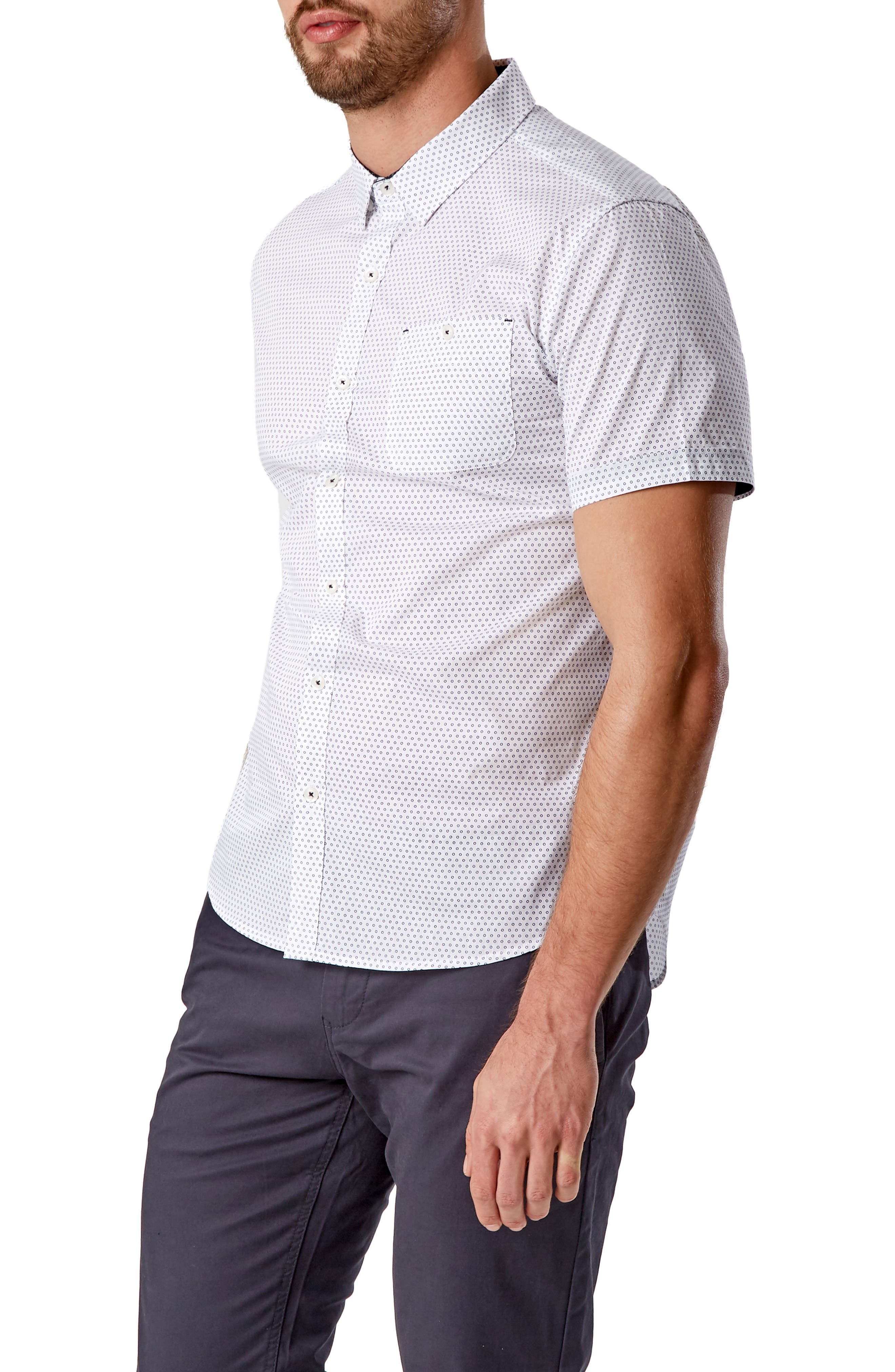 Suavecito Slim Fit Sport Shirt,                             Alternate thumbnail 4, color,                             WHITE