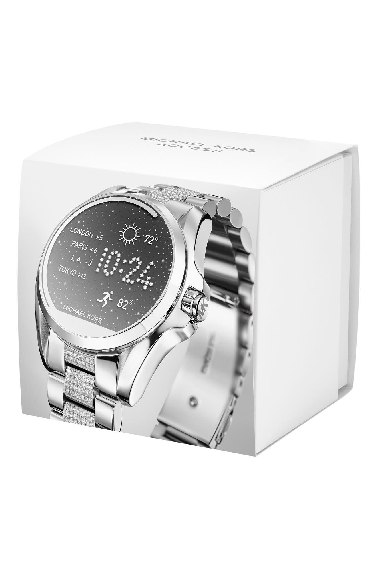 MICHAEL Michael Kors Bradshaw Access Bracelet Smart Watch, 45mm,                             Alternate thumbnail 16, color,