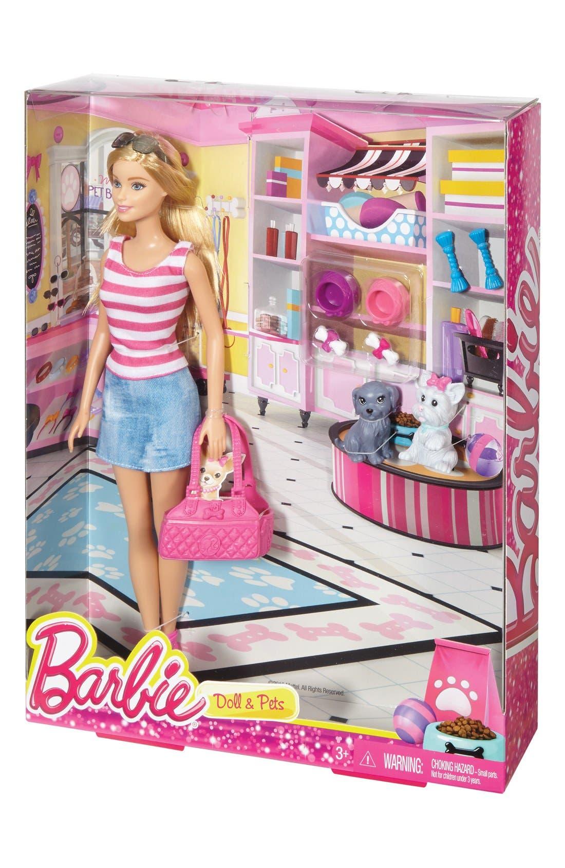 Barbie<sup>®</sup> Doll & Pets Set,                             Alternate thumbnail 2, color,                             650